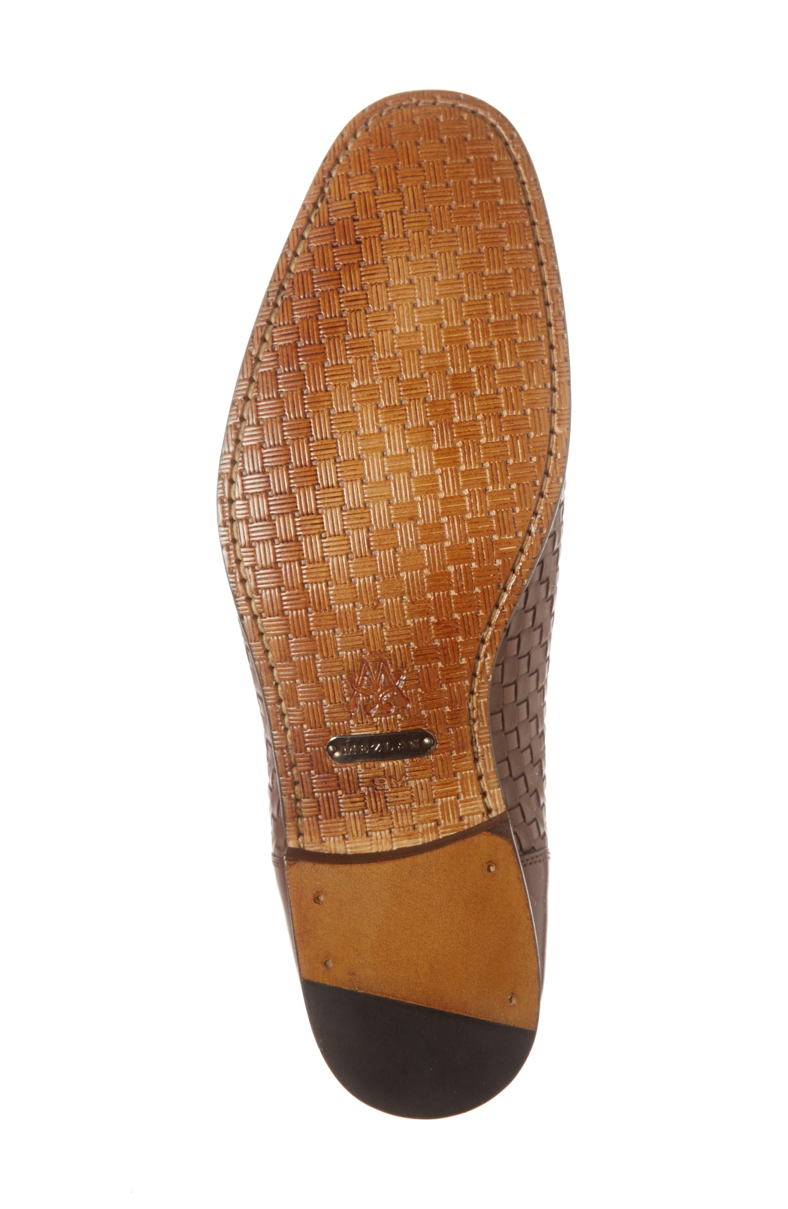 Eliseo Woven Venetian Loafer,                             Alternate thumbnail 6, color,                             Brown Leather