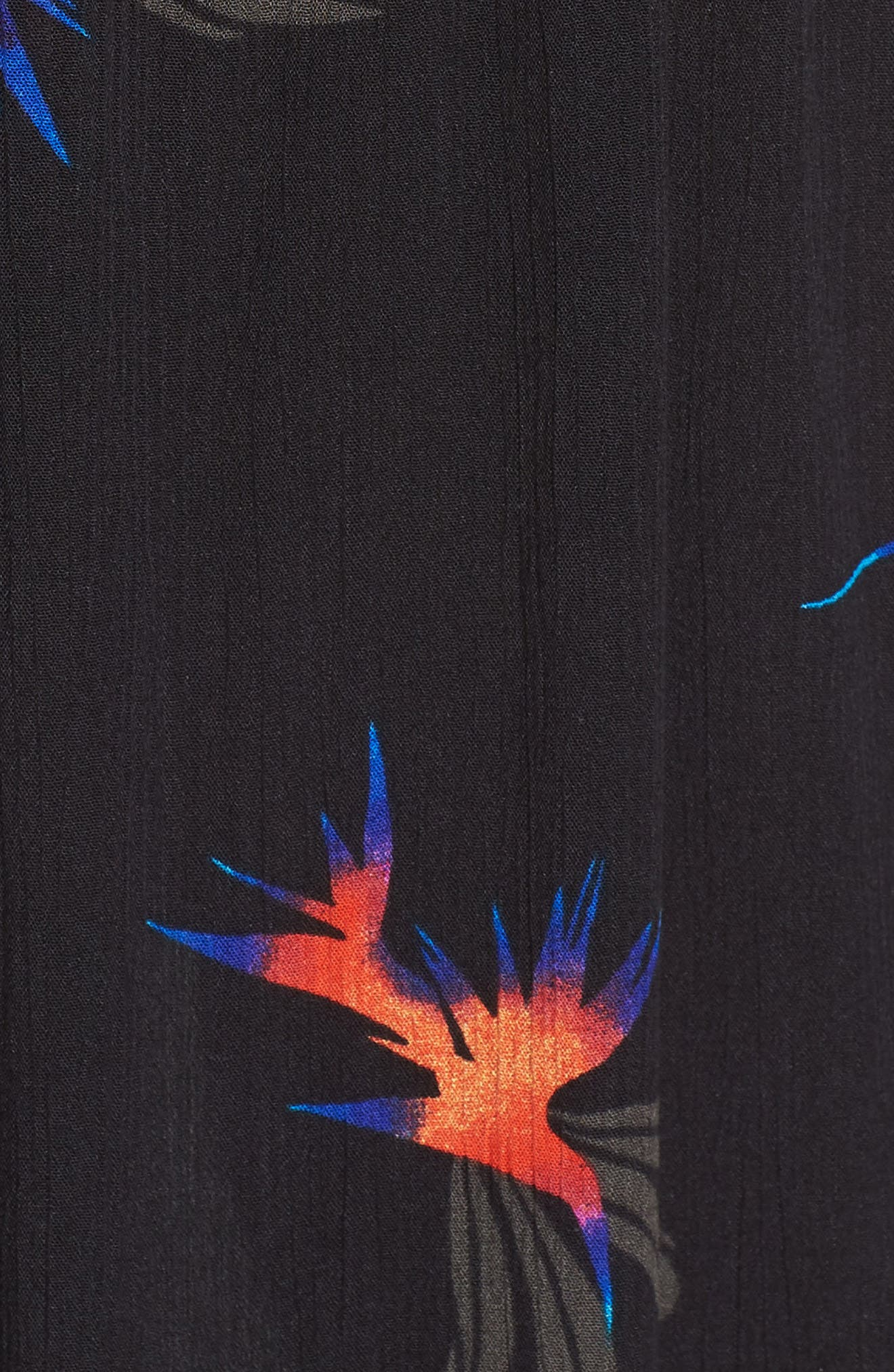 Sydney Midi Dress,                             Alternate thumbnail 6, color,                             Black Paradise City Print