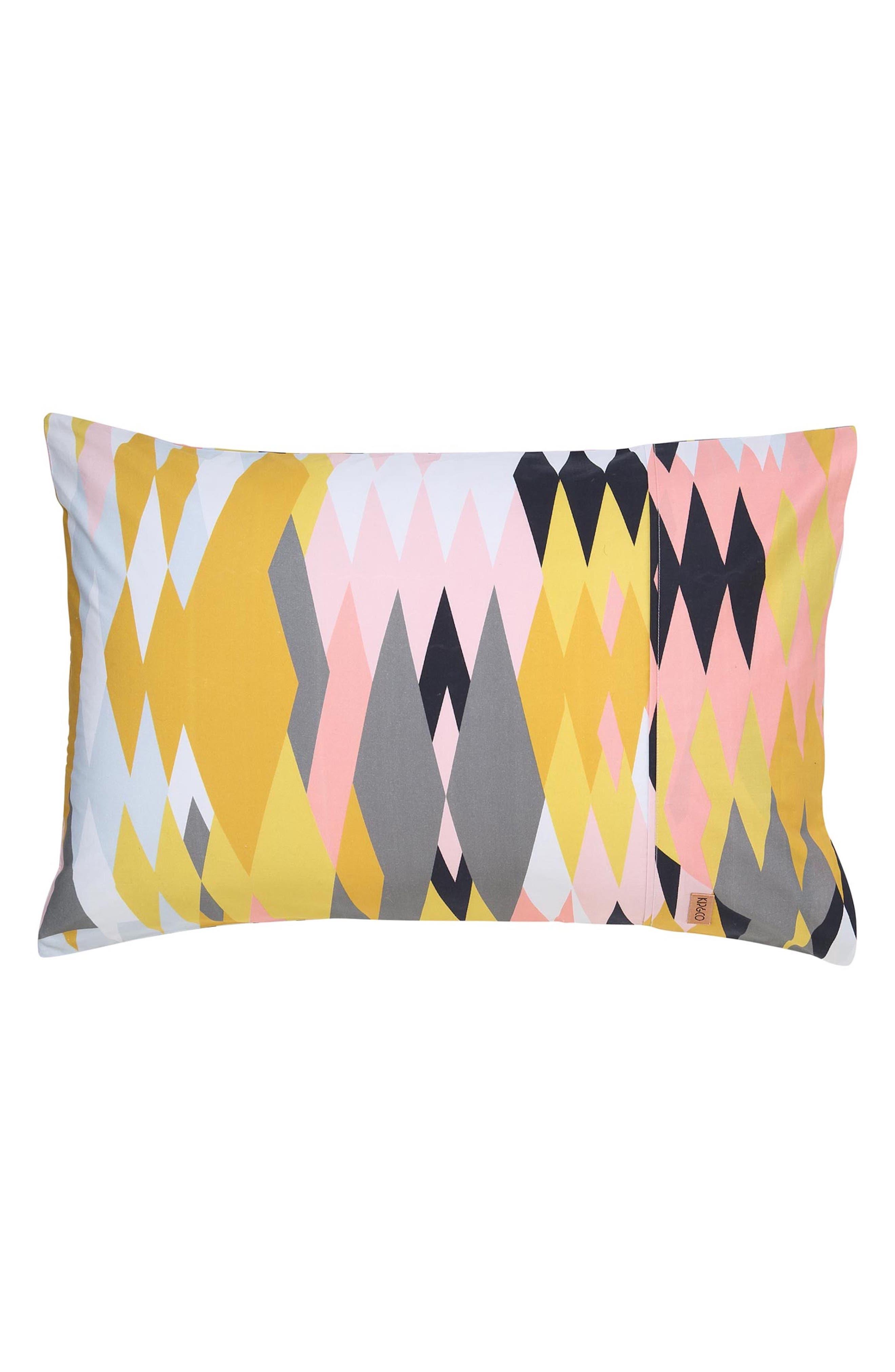Croc Desert Cotton Pillowcase,                             Main thumbnail 1, color,                             Multi