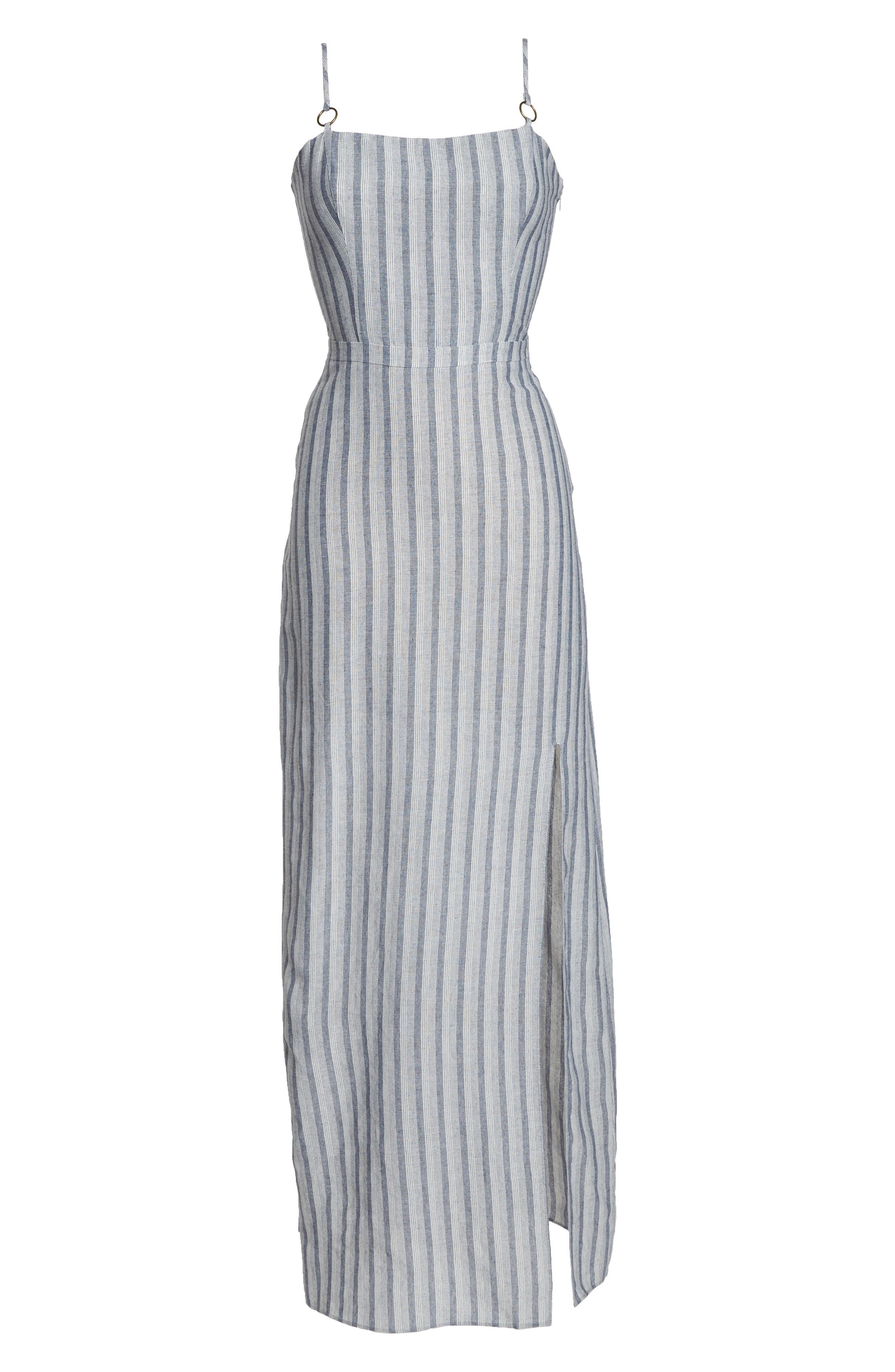 Krisa Stripe Maxi Dress,                             Alternate thumbnail 7, color,                             Multi