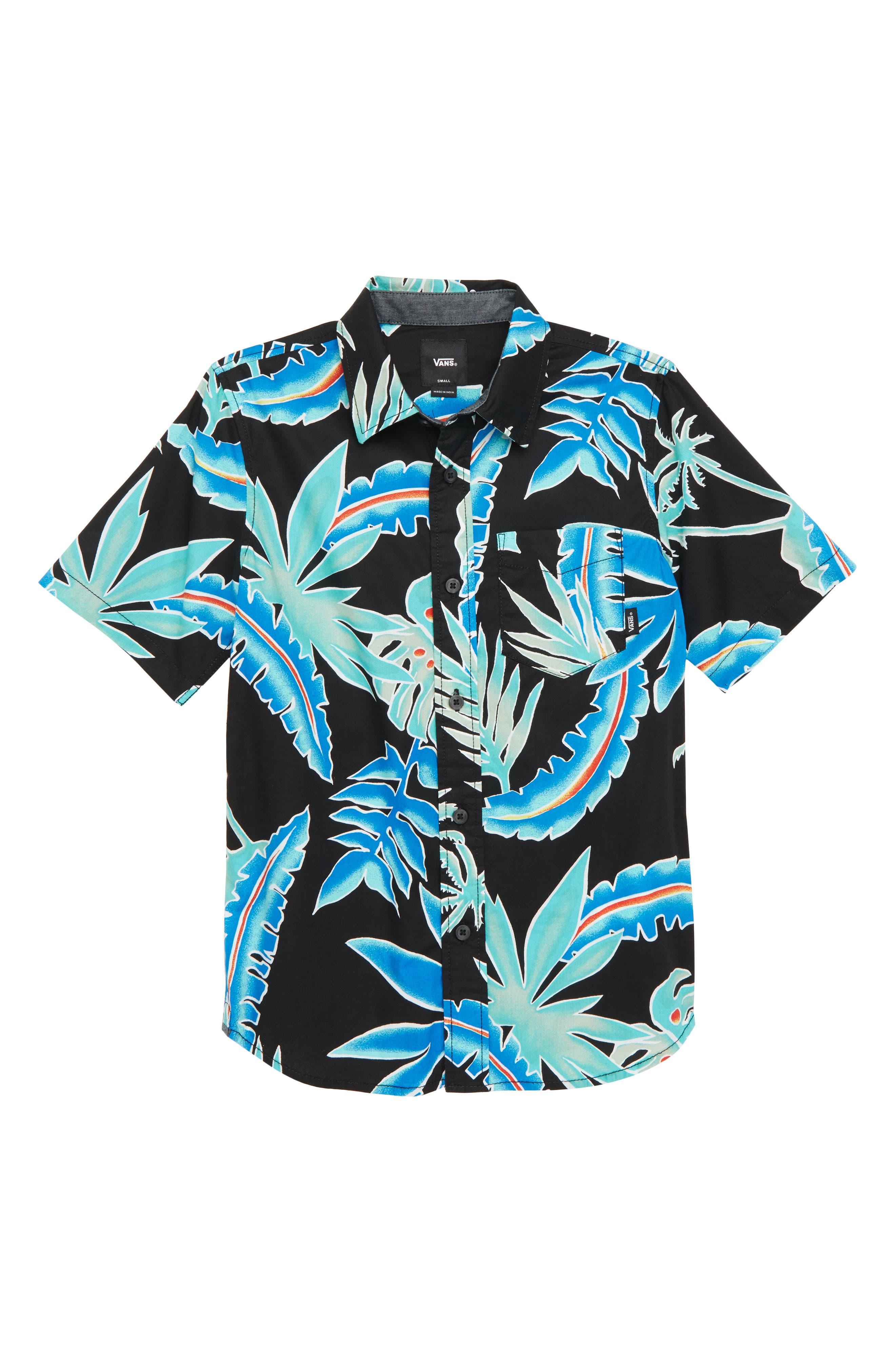 Vans Tropical Floral Woven Shirt (Big Boys)