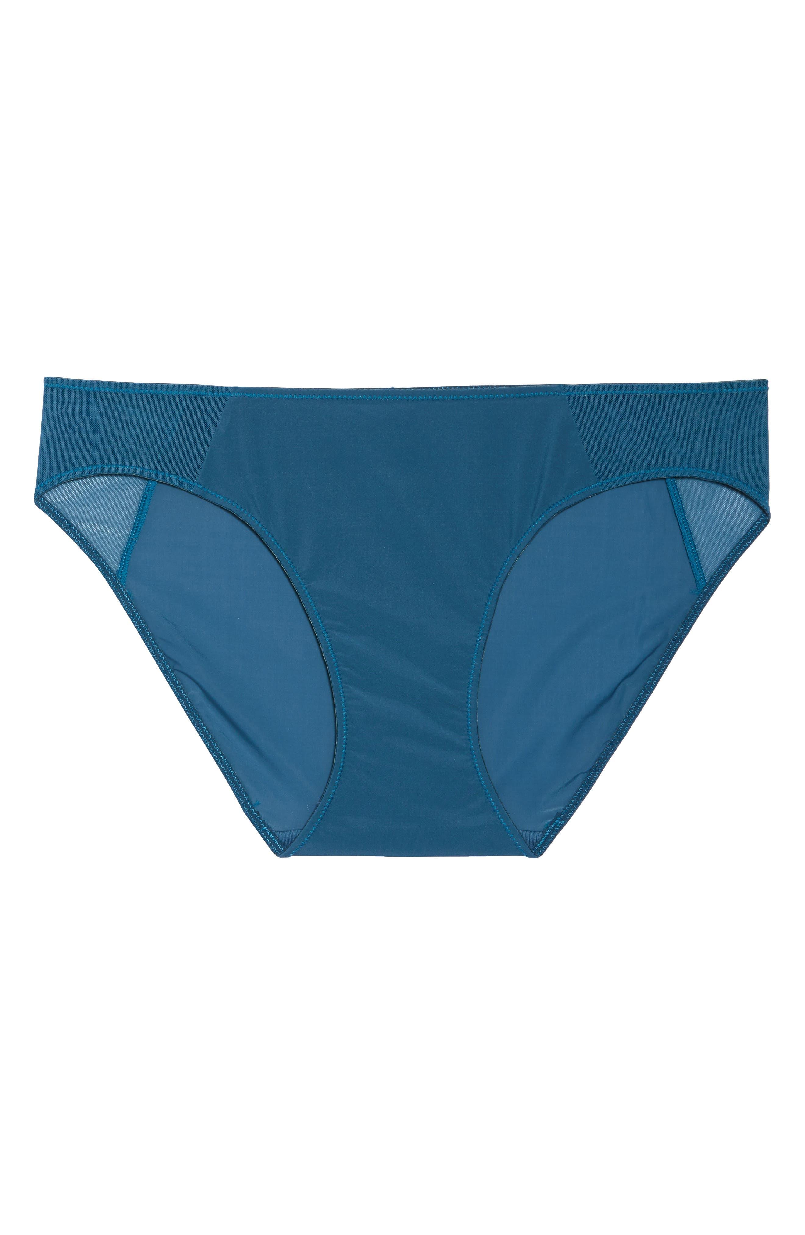 Mesh Trim Bikini,                             Alternate thumbnail 8, color,                             Blue Hematite