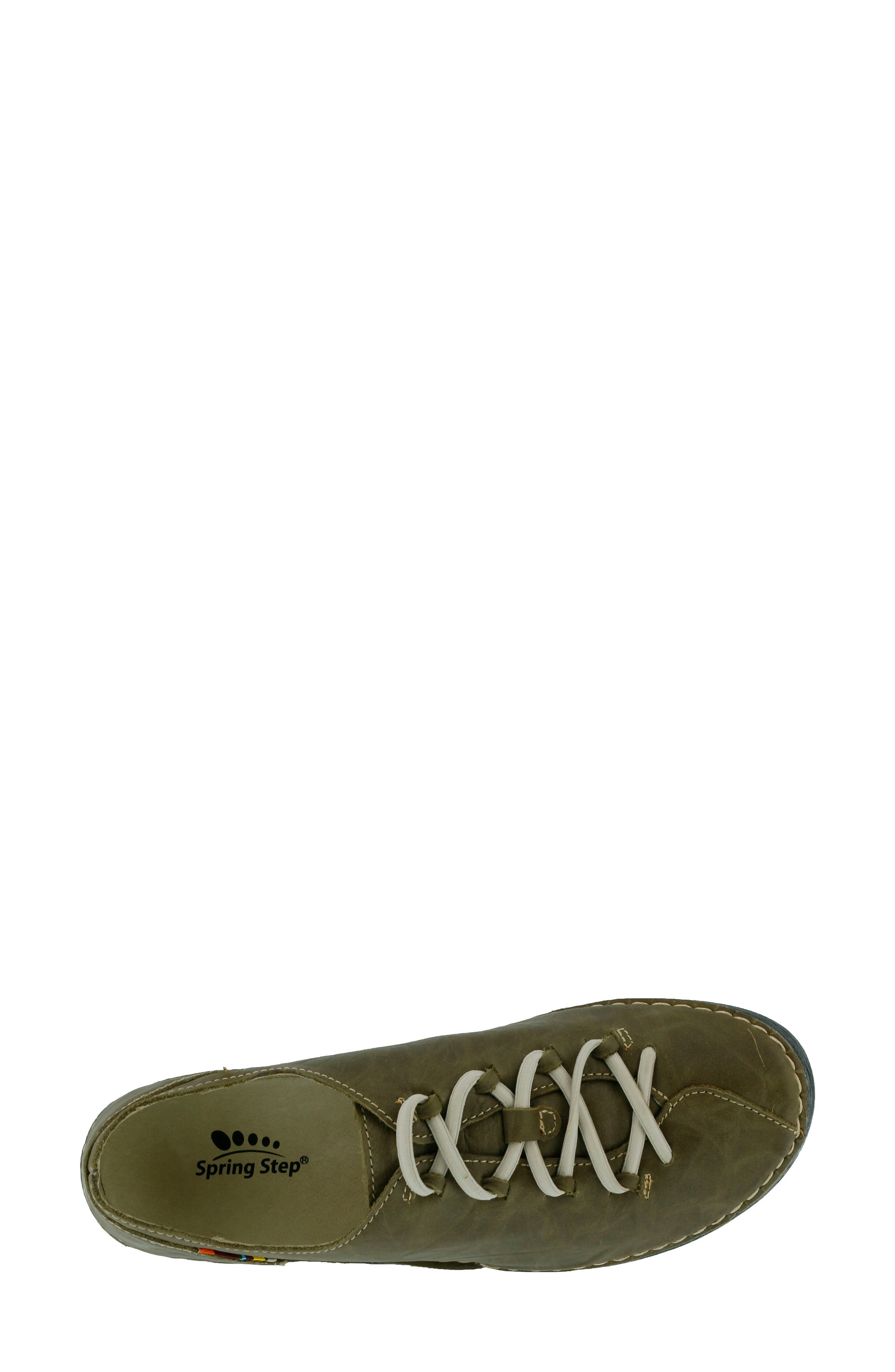 Carhop Sneaker,                             Alternate thumbnail 3, color,                             Olive Green Leather