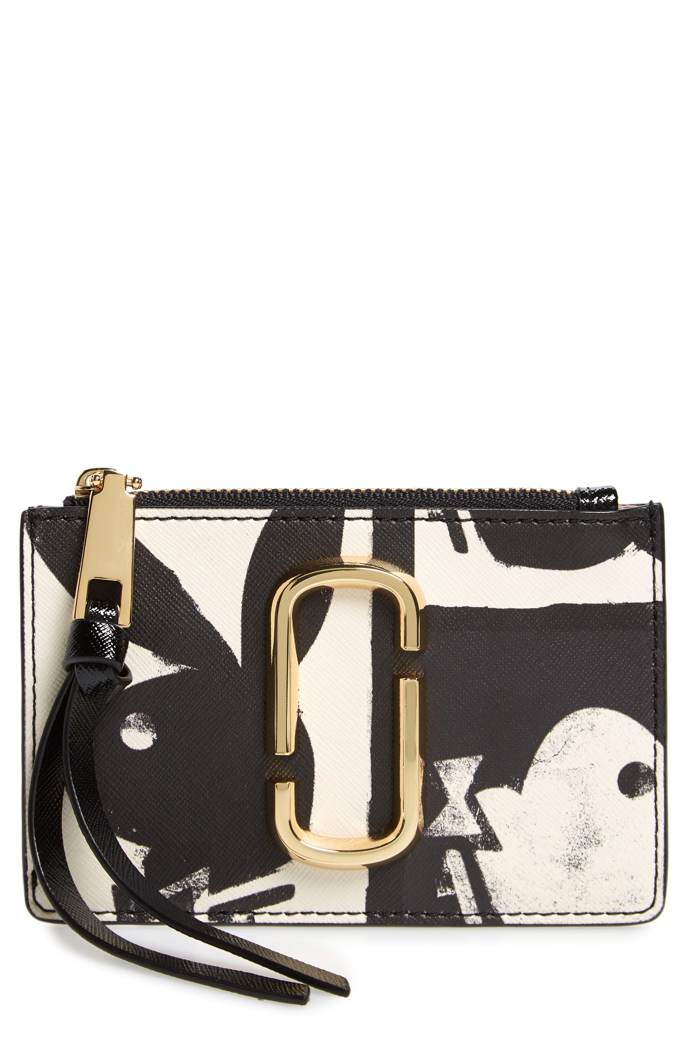 MARC JACOBS Snapshot Playboy® Leather Zip Wallet