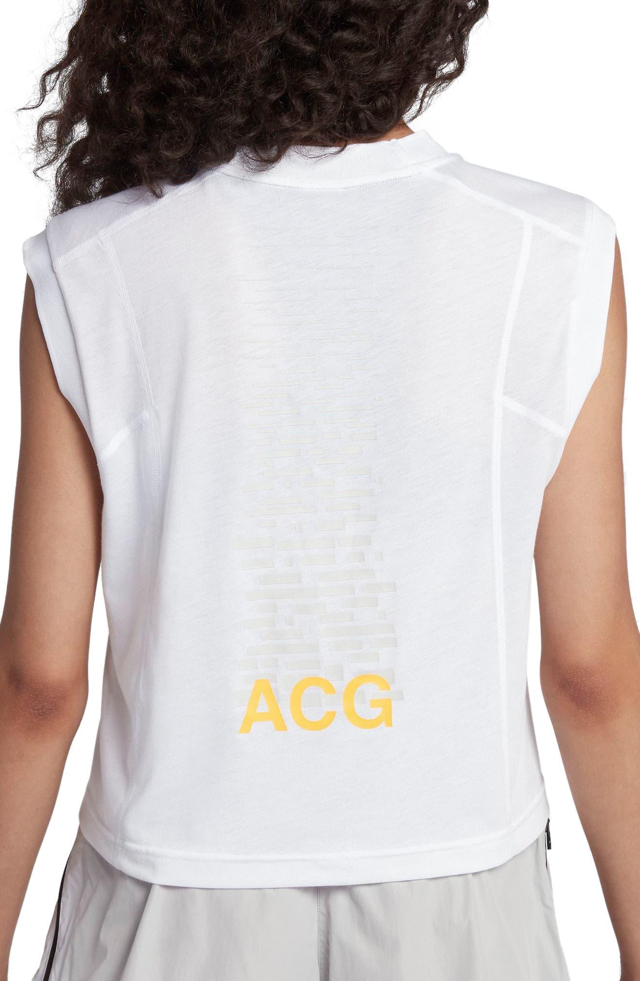 NikeLab ACG Women's Sleeveless Top,                             Alternate thumbnail 2, color,                             White