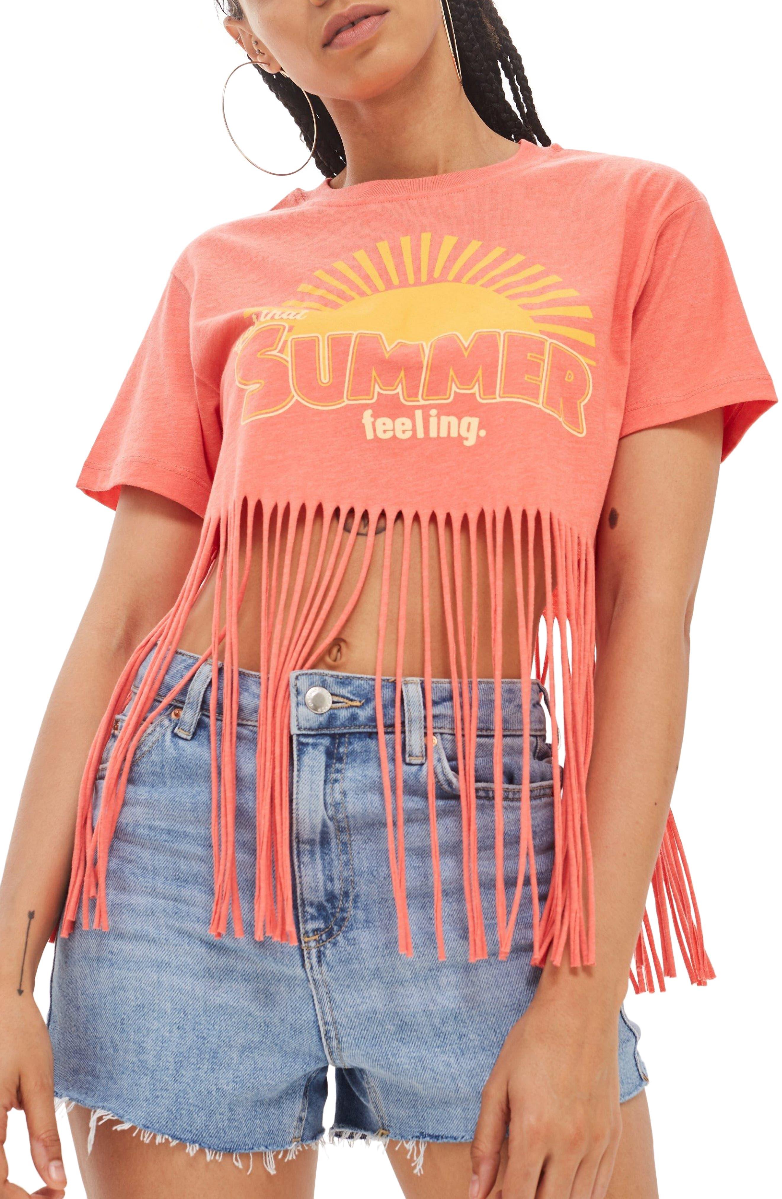 Summer Feelings T-Shirt,                             Main thumbnail 1, color,                             Pink Multi