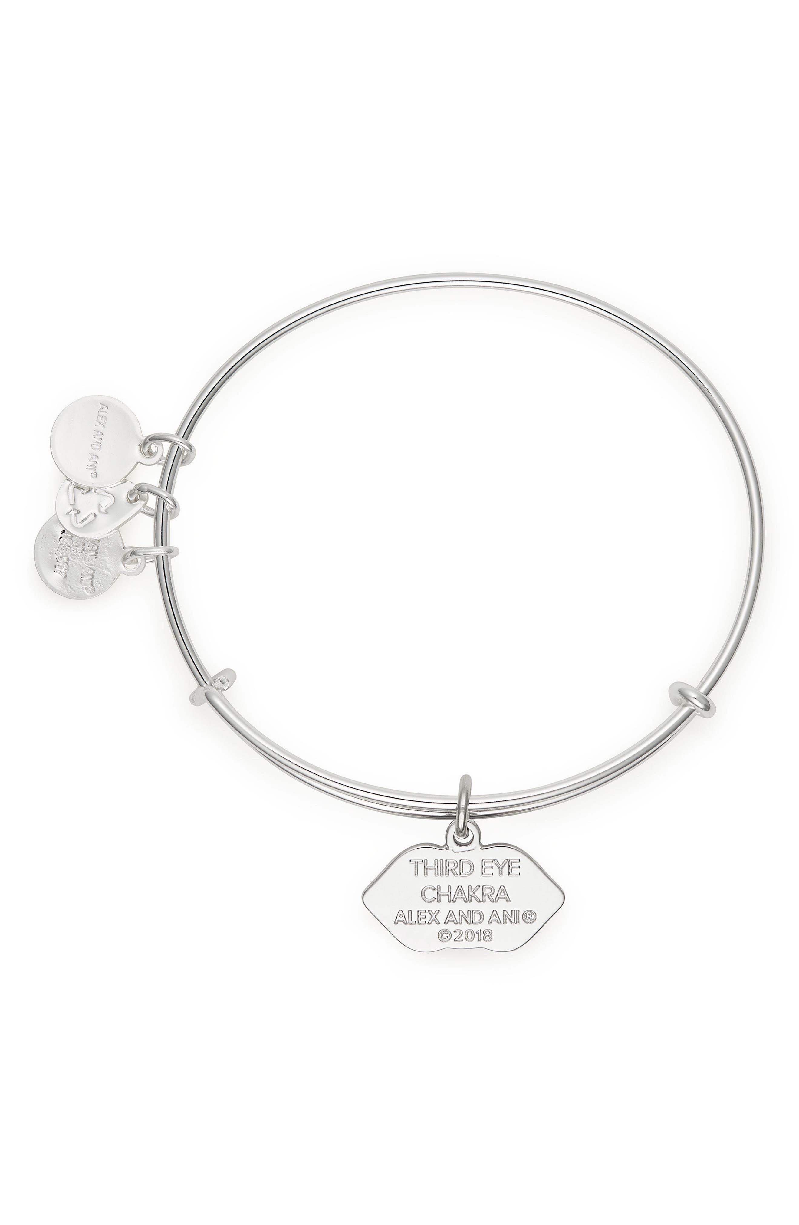 The Third Eye Chakra Adjustable Bracelet,                             Alternate thumbnail 2, color,                             Silver