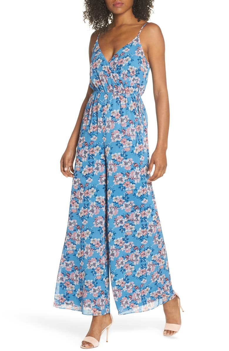 Lily Pond Faux Wrap Jumpsuit