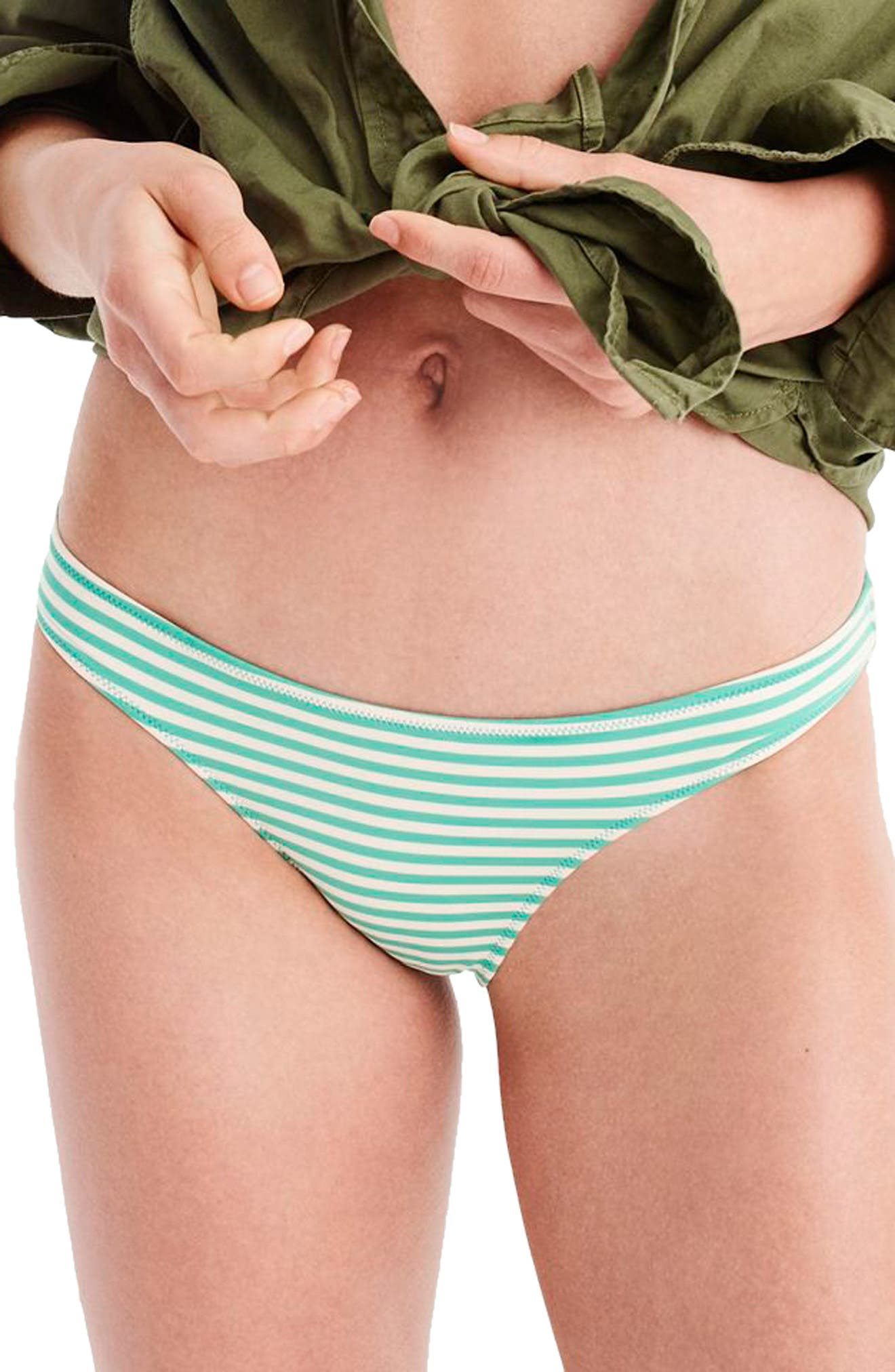 Daryl Hipster Cheeky Bikini Bottoms,                         Main,                         color, Bright Patina/ Ivory