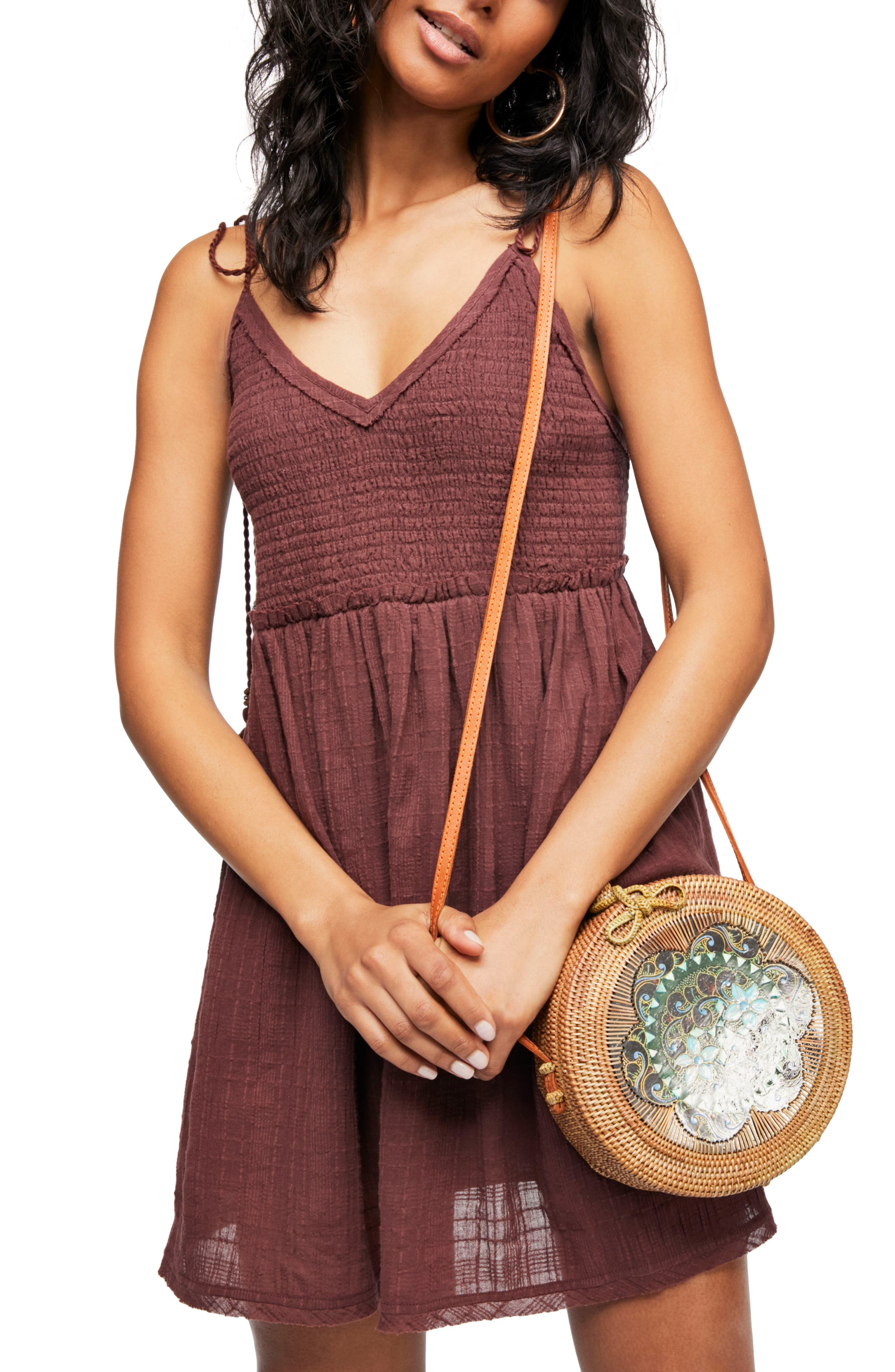 Endless Summer by Free People Sun Drenched Minidress,                             Main thumbnail 1, color,                             Dark Purple