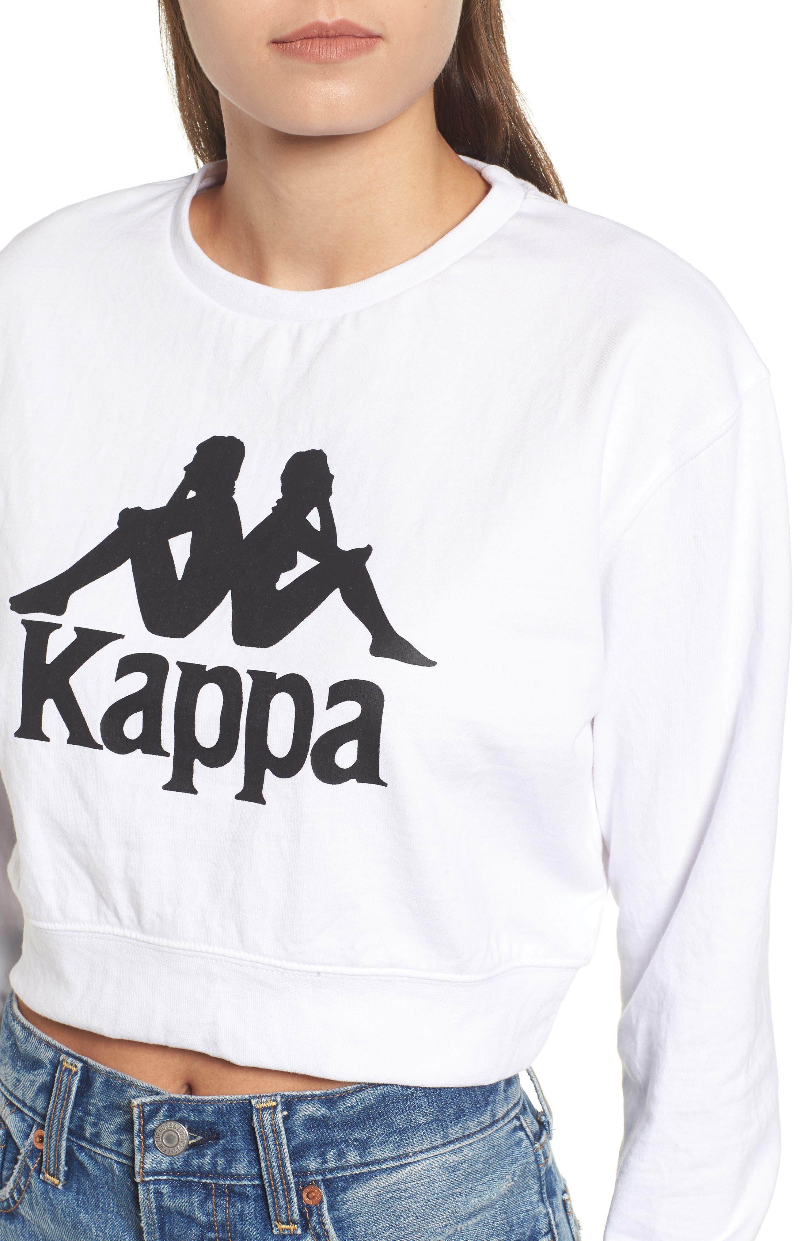 Bamm Bamm Crop Sweatshirt,                             Alternate thumbnail 4, color,                             White
