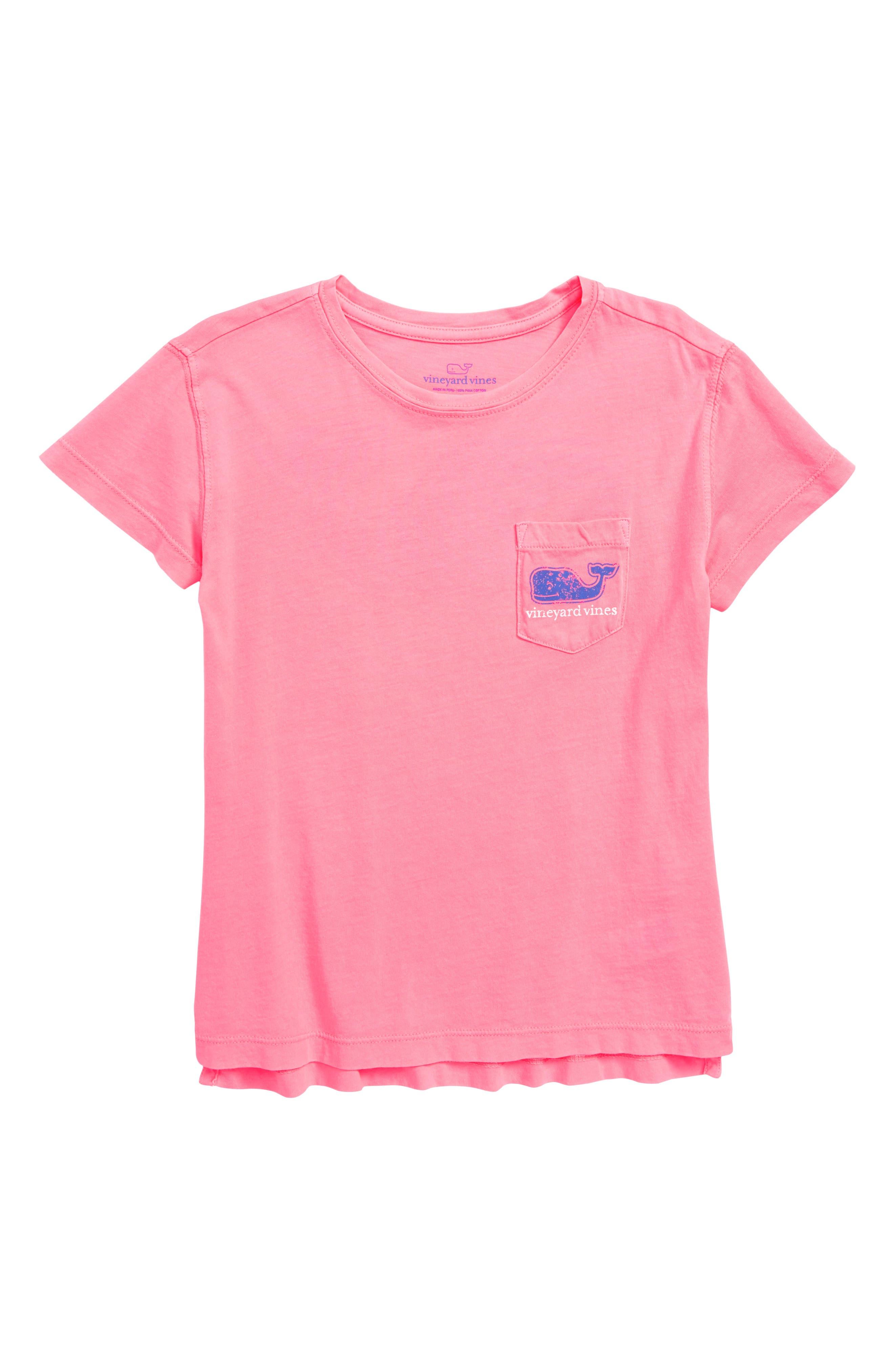 Vintage Whale Pocket Tee,                         Main,                         color, Malibu Pink