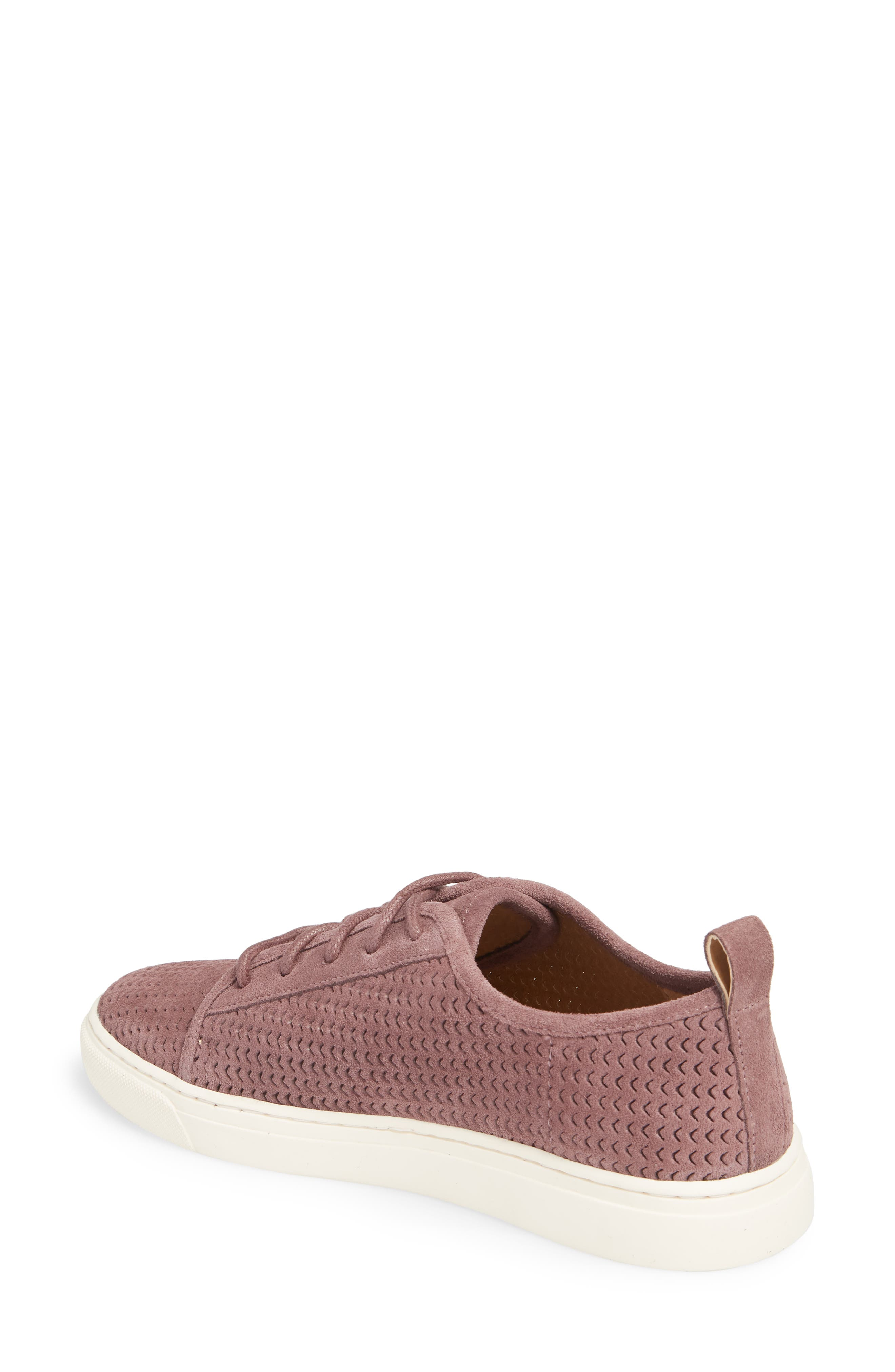 Lawove Sneaker,                             Alternate thumbnail 2, color,                             Berry Smooth Suede