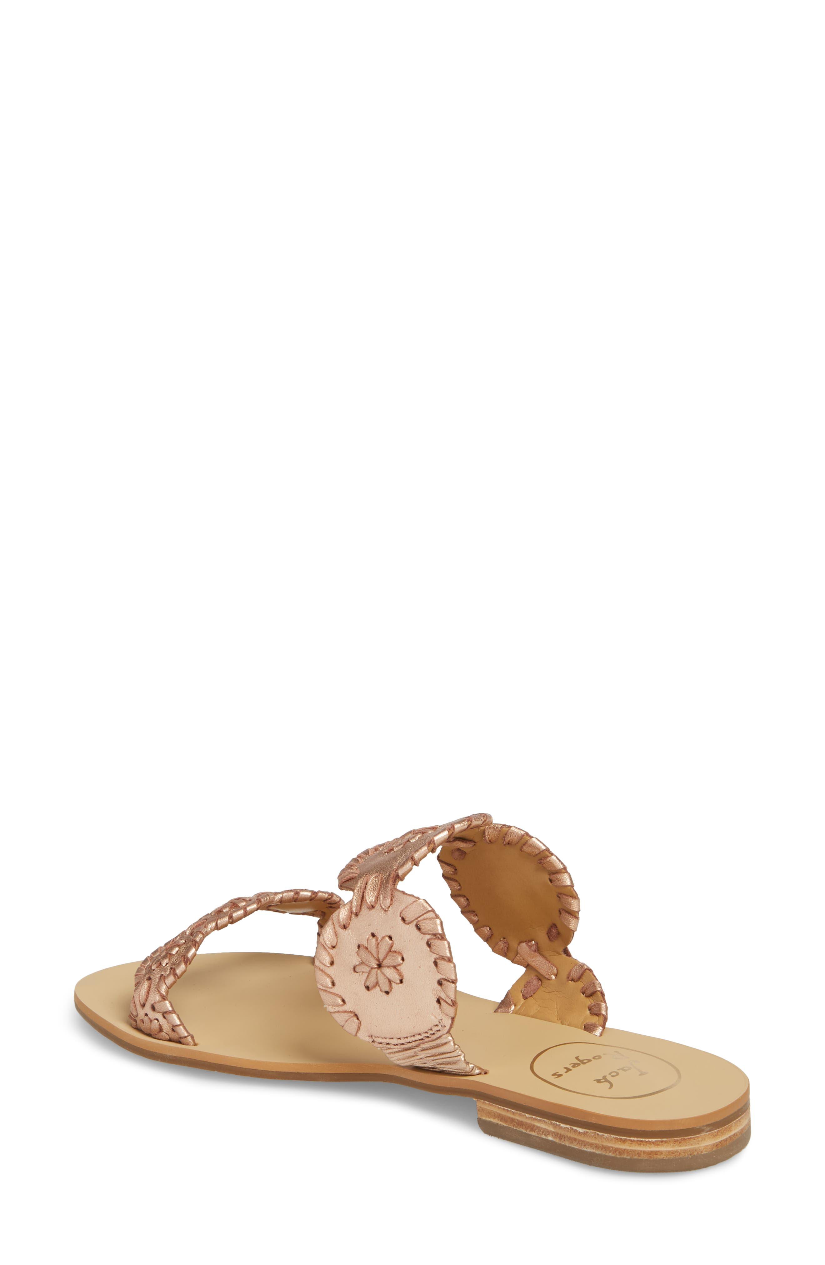 'Lauren' Sandal,                             Alternate thumbnail 2, color,                             Rose Gold Leather