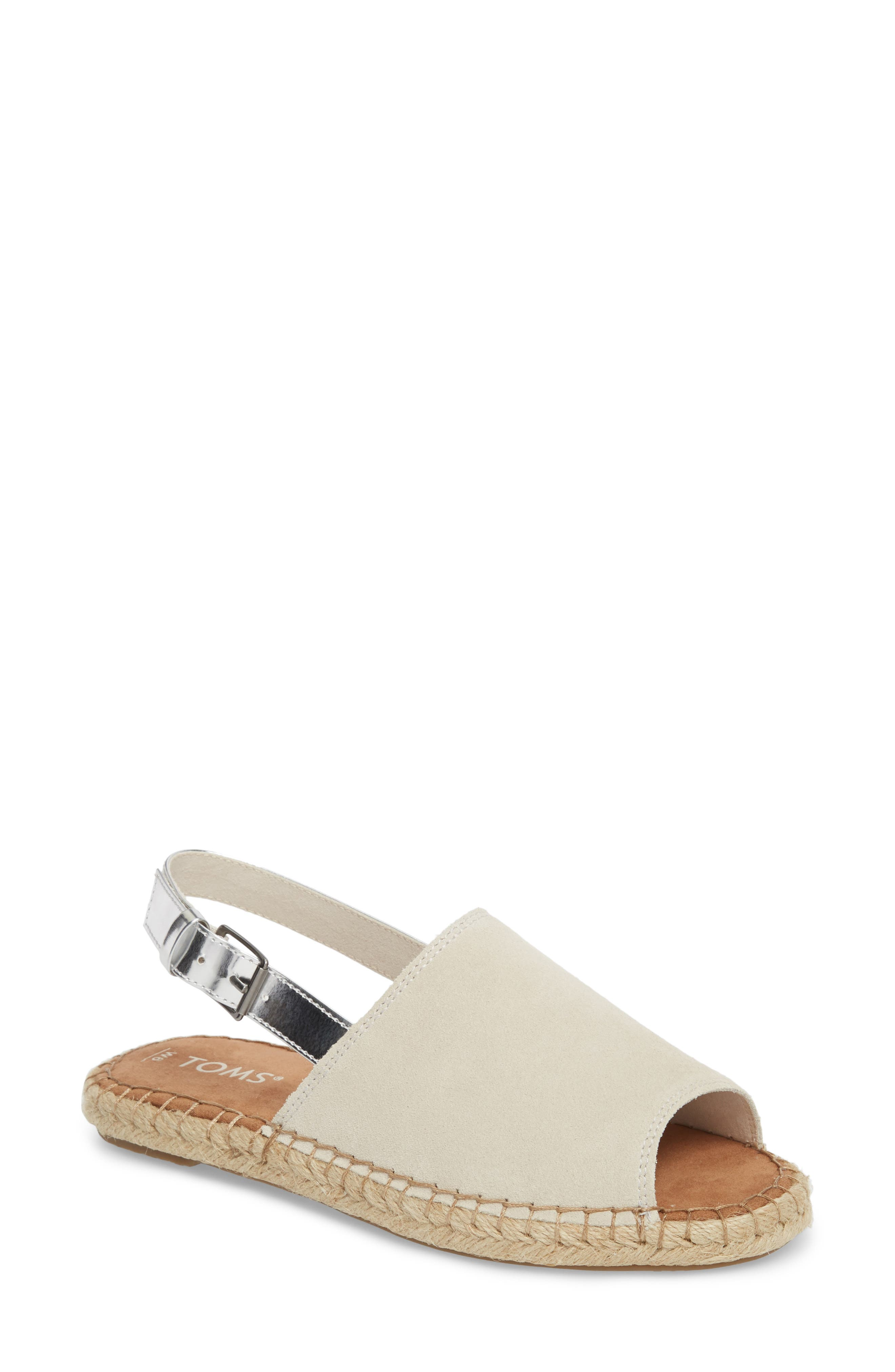 Clara Slingback Sandal,                         Main,                         color, Birch Suede