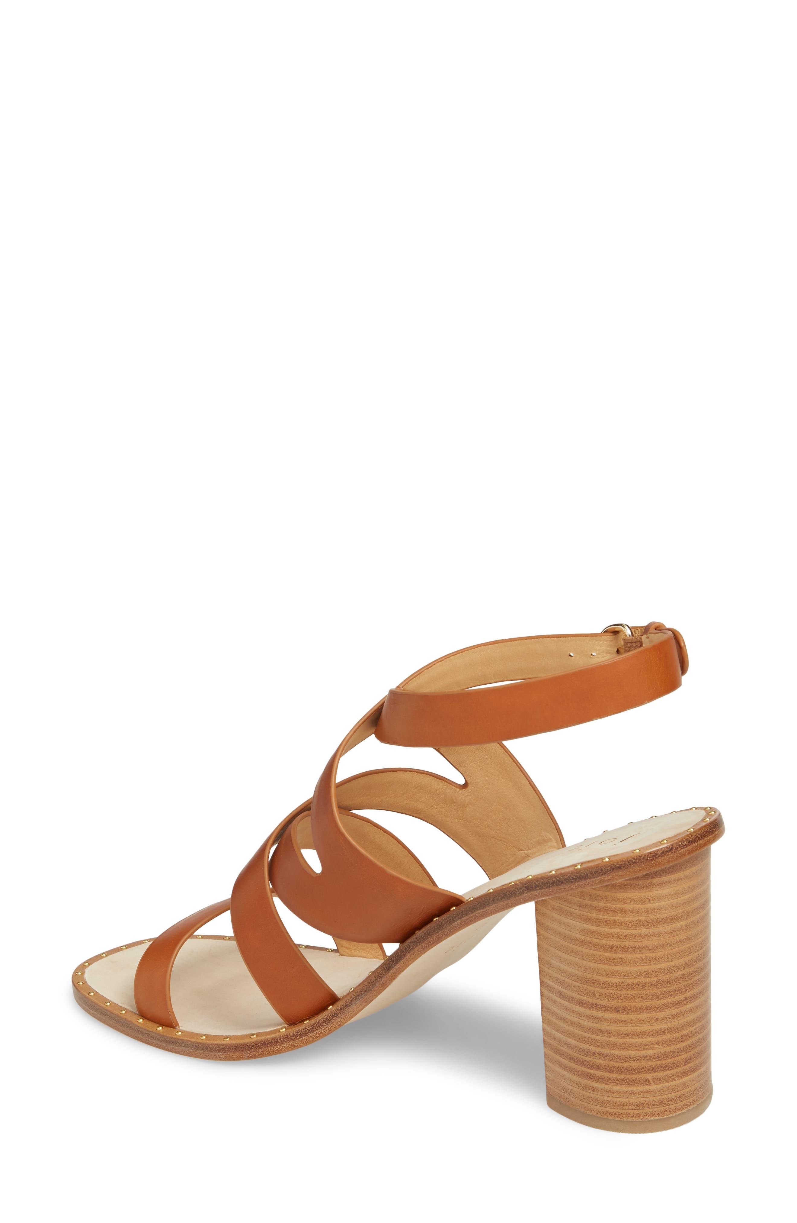 Onfer Studded Strappy Sandal,                             Alternate thumbnail 2, color,                             Tan