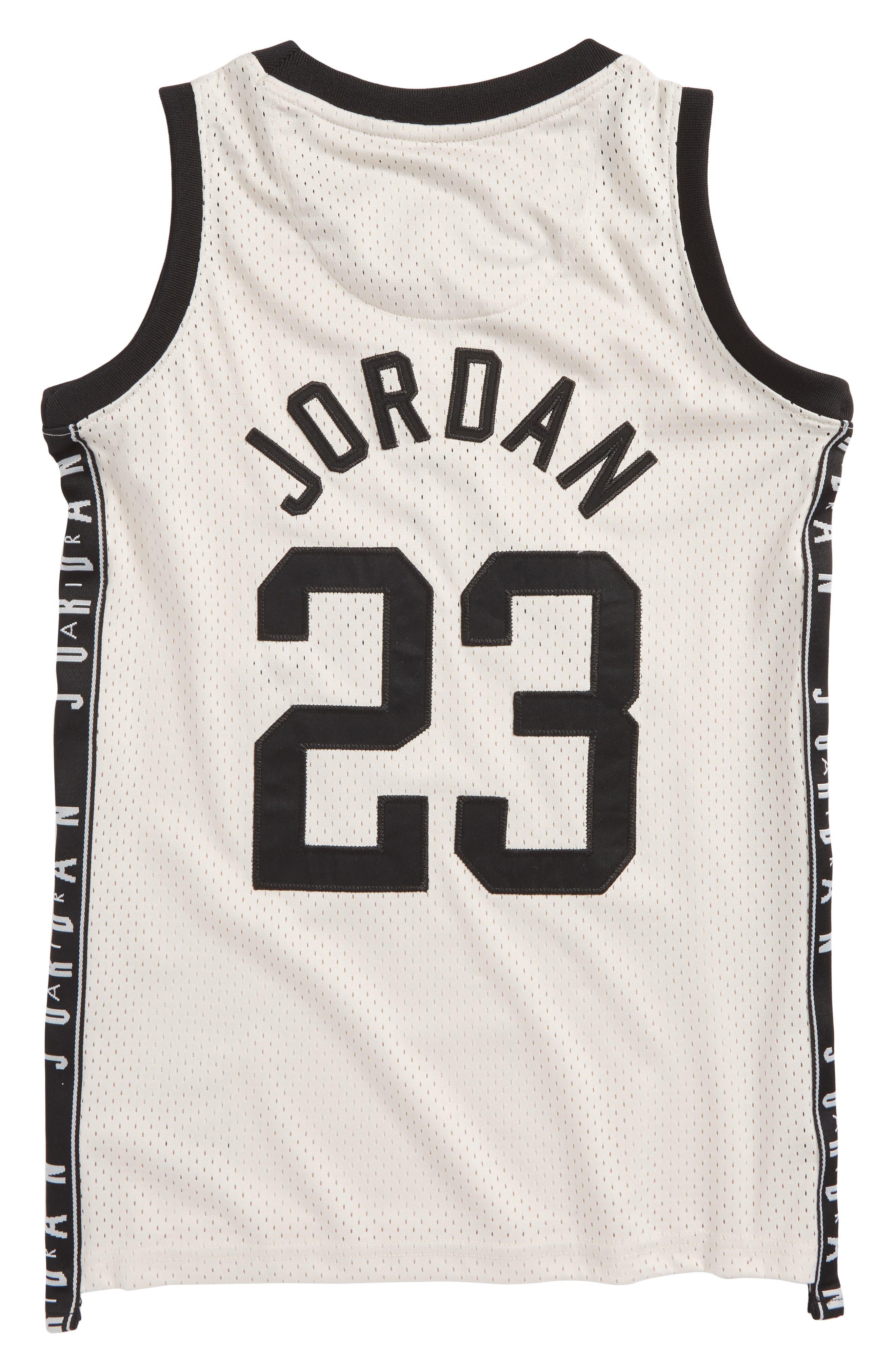 Jordan Rise Graphic Tape Jersey,                             Alternate thumbnail 2, color,                             Desert Sand