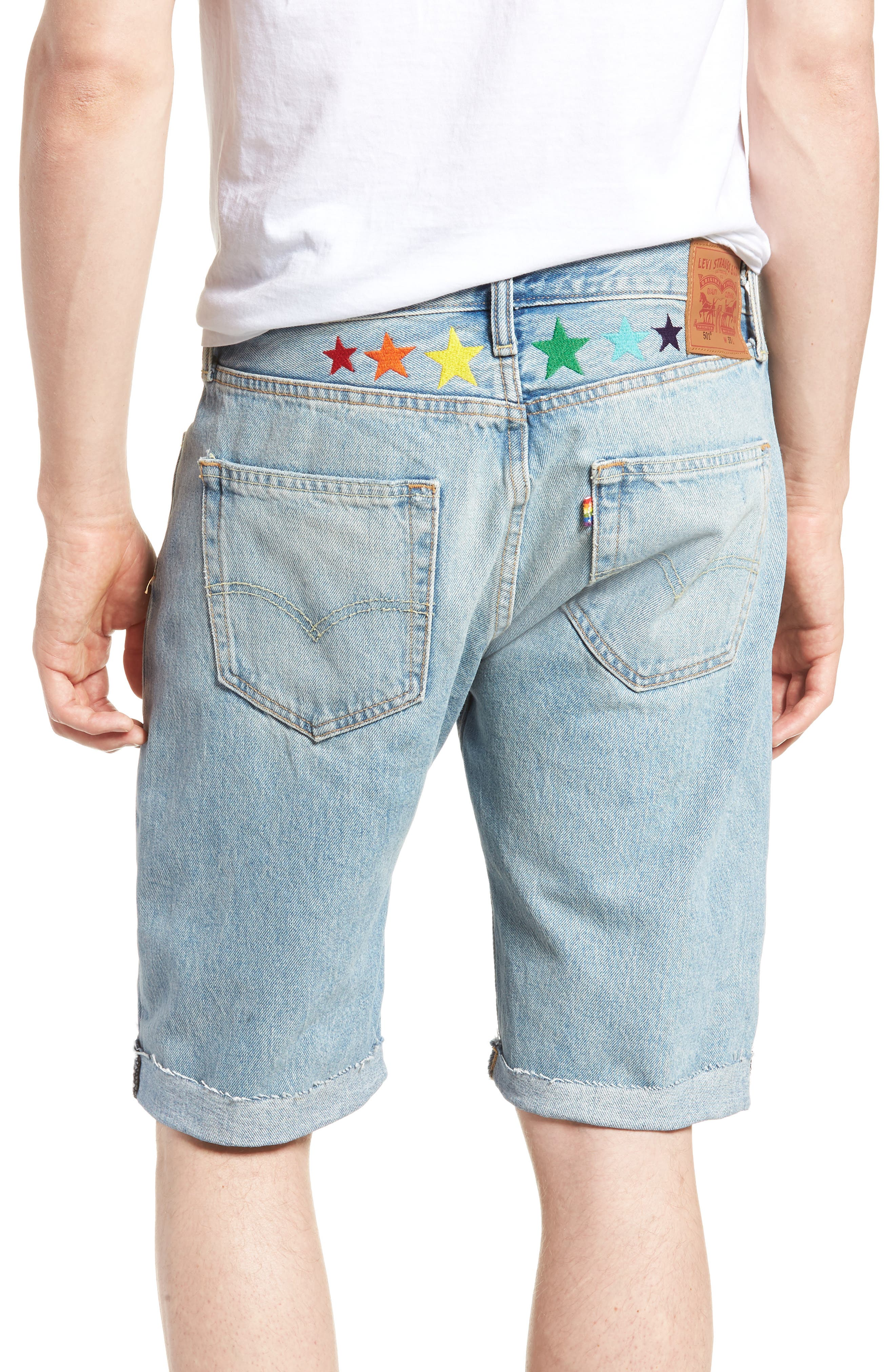 501<sup>™</sup> Cutoff Denim Shorts,                             Alternate thumbnail 2, color,                             Love To All