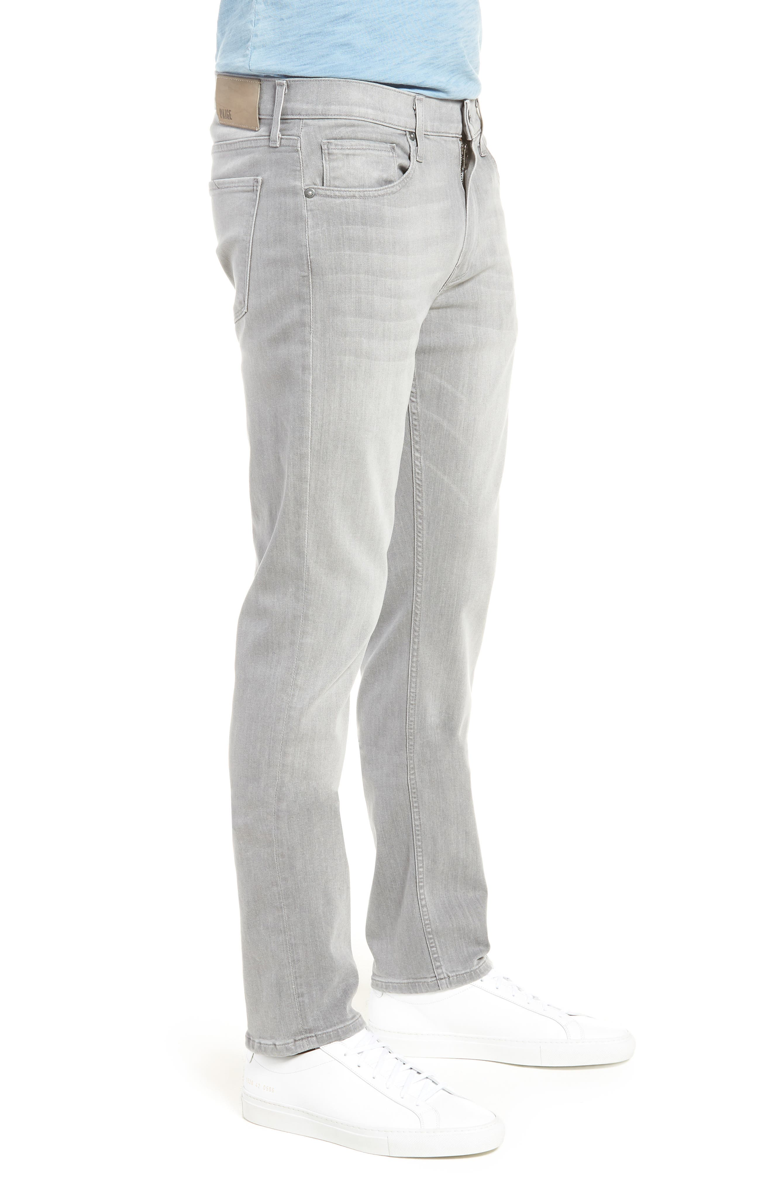 Transcend - Lennox Slim Fit Jeans,                             Alternate thumbnail 3, color,                             Mannor