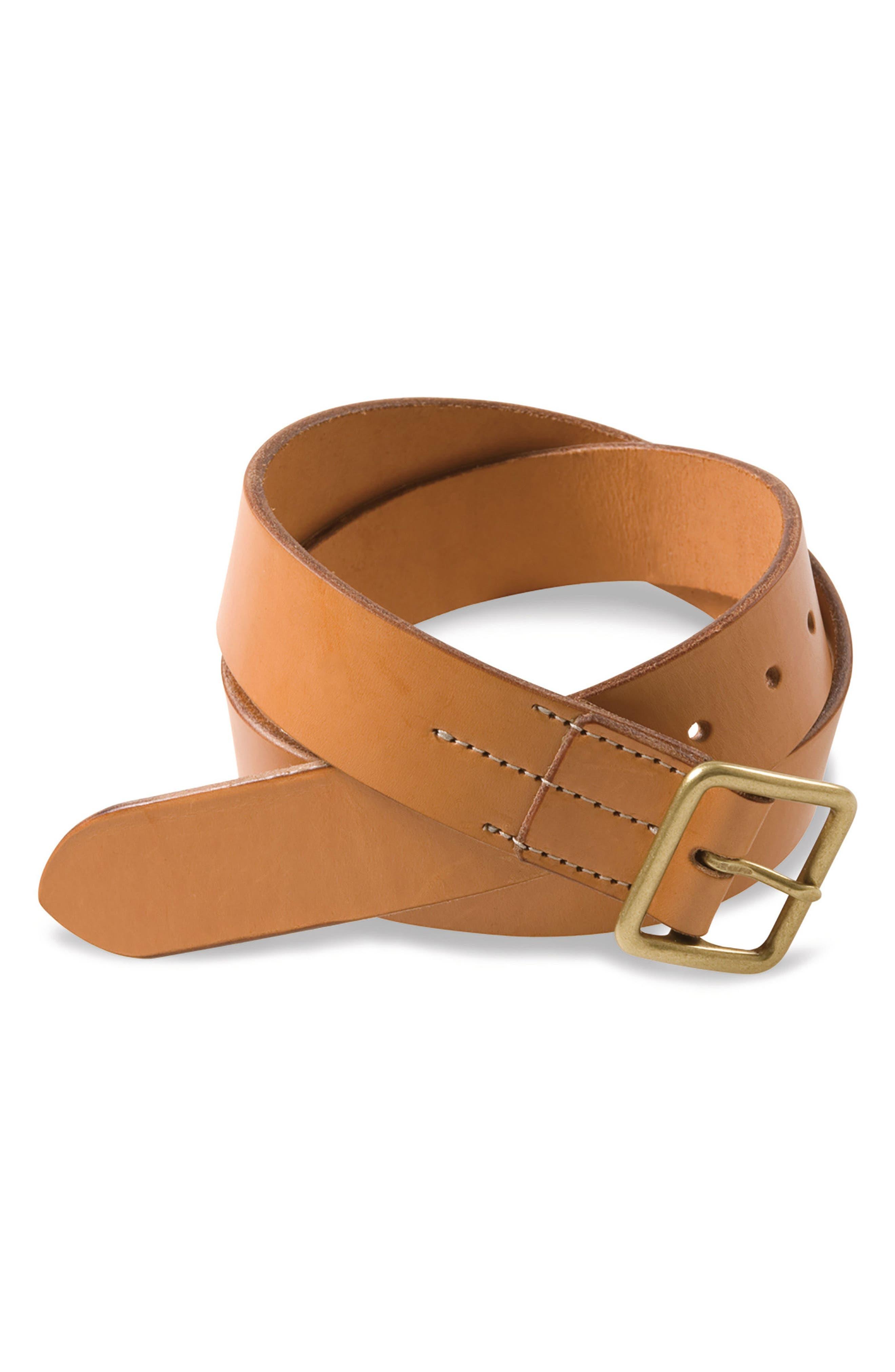 Leather Belt,                         Main,                         color, Neutral English Bridle
