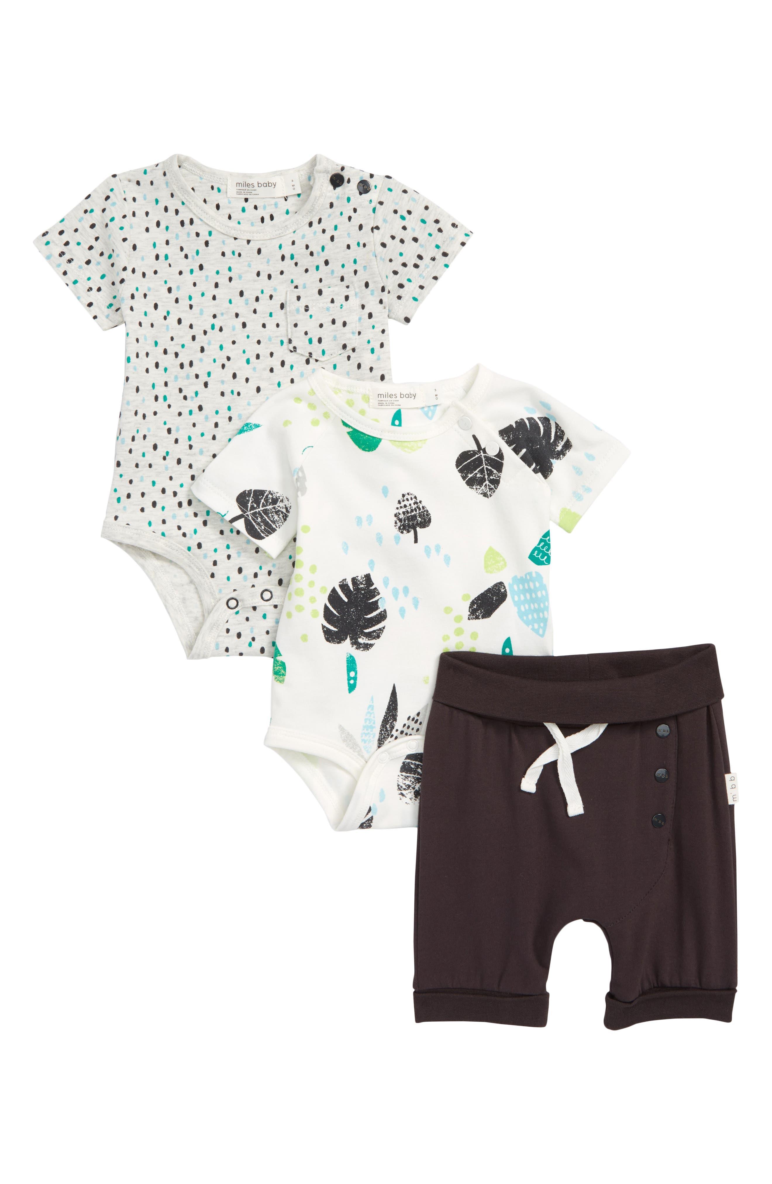 Miles Baby 3-Piece Bodysuit & Shorts Set (Baby)