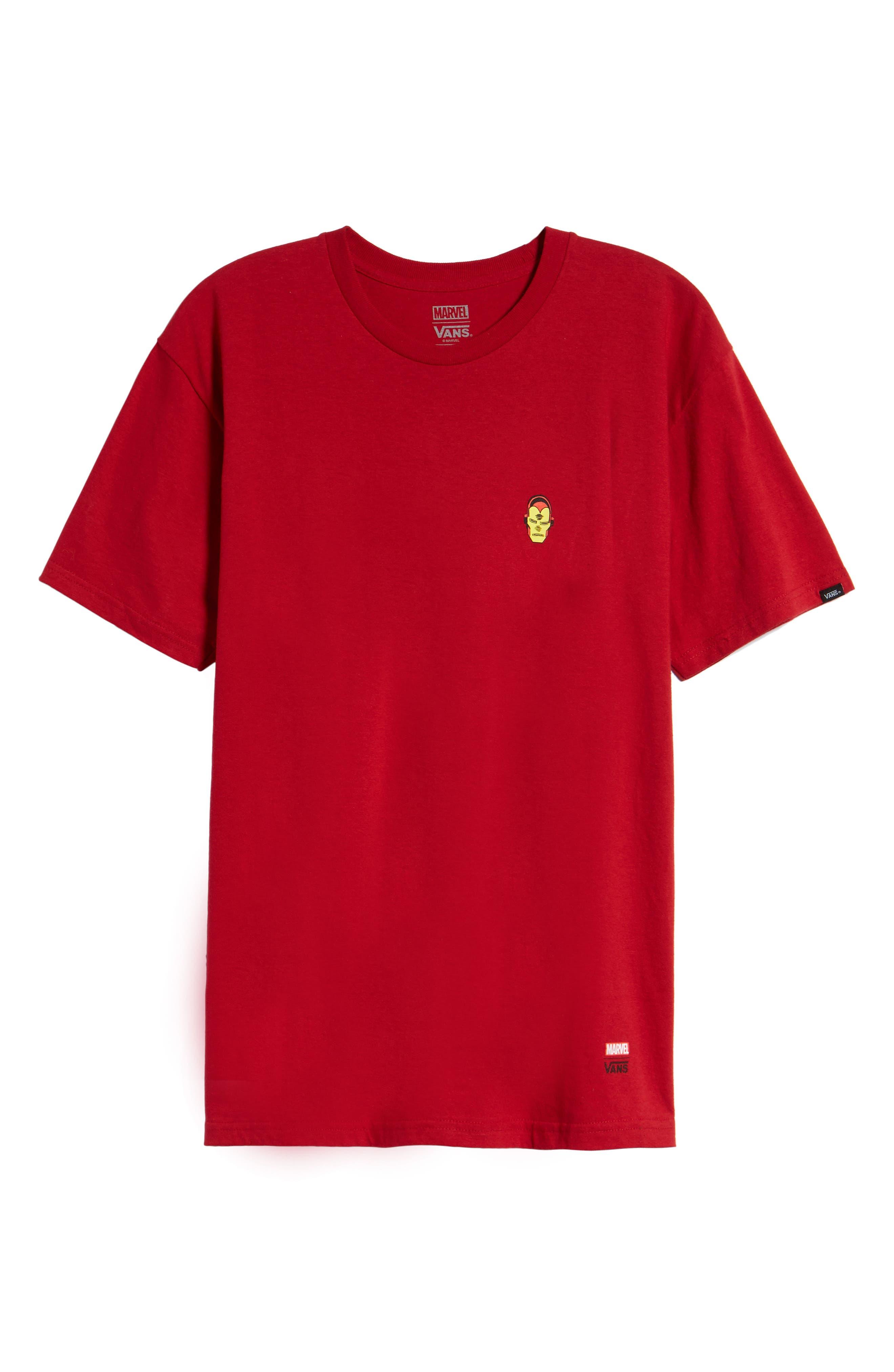 x Marvel<sup>®</sup> Iron Man T-Shirt,                             Alternate thumbnail 6, color,                             Cardinal