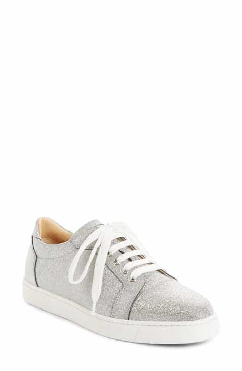 c13ee5fe9f8c1 Christian Louboutin Vieira Glitter Low Top Sneaker (Women)