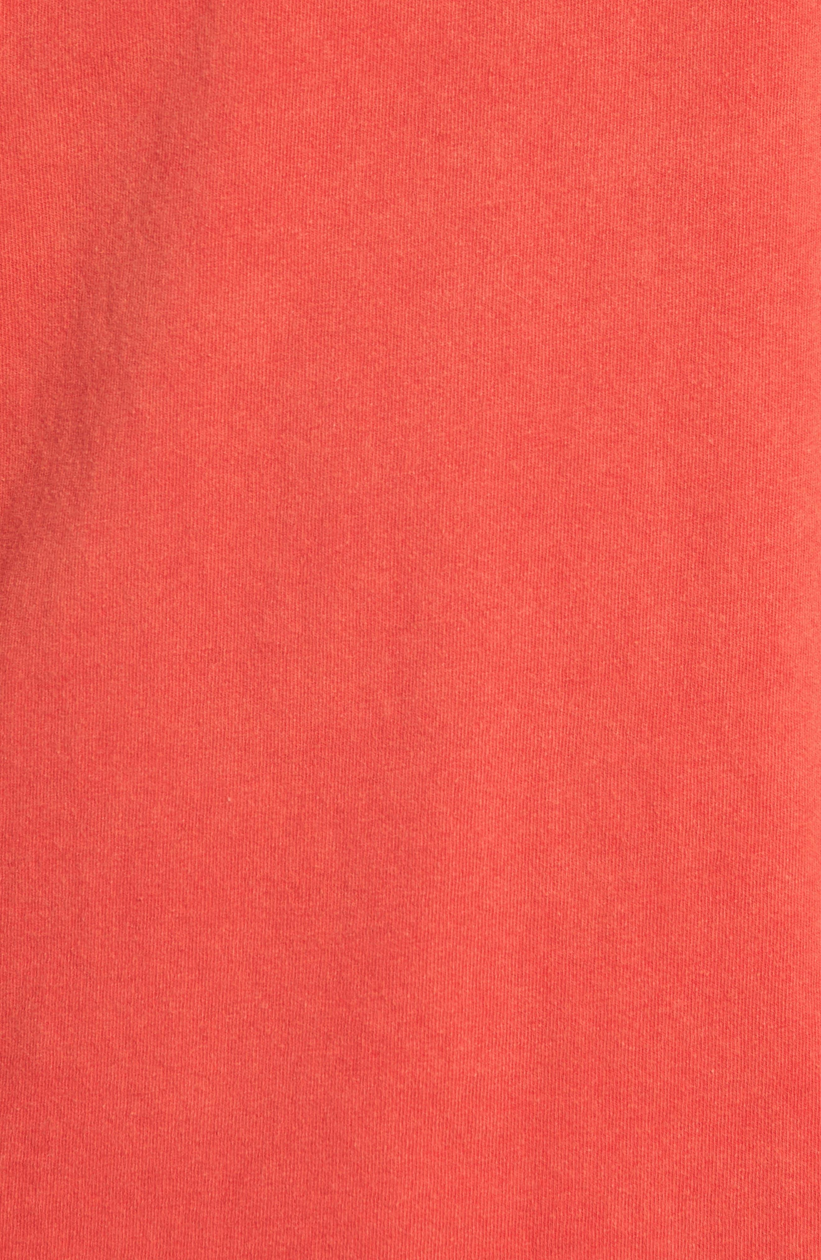 Burnout Graphic T-Shirt,                             Alternate thumbnail 5, color,                             Cayenne