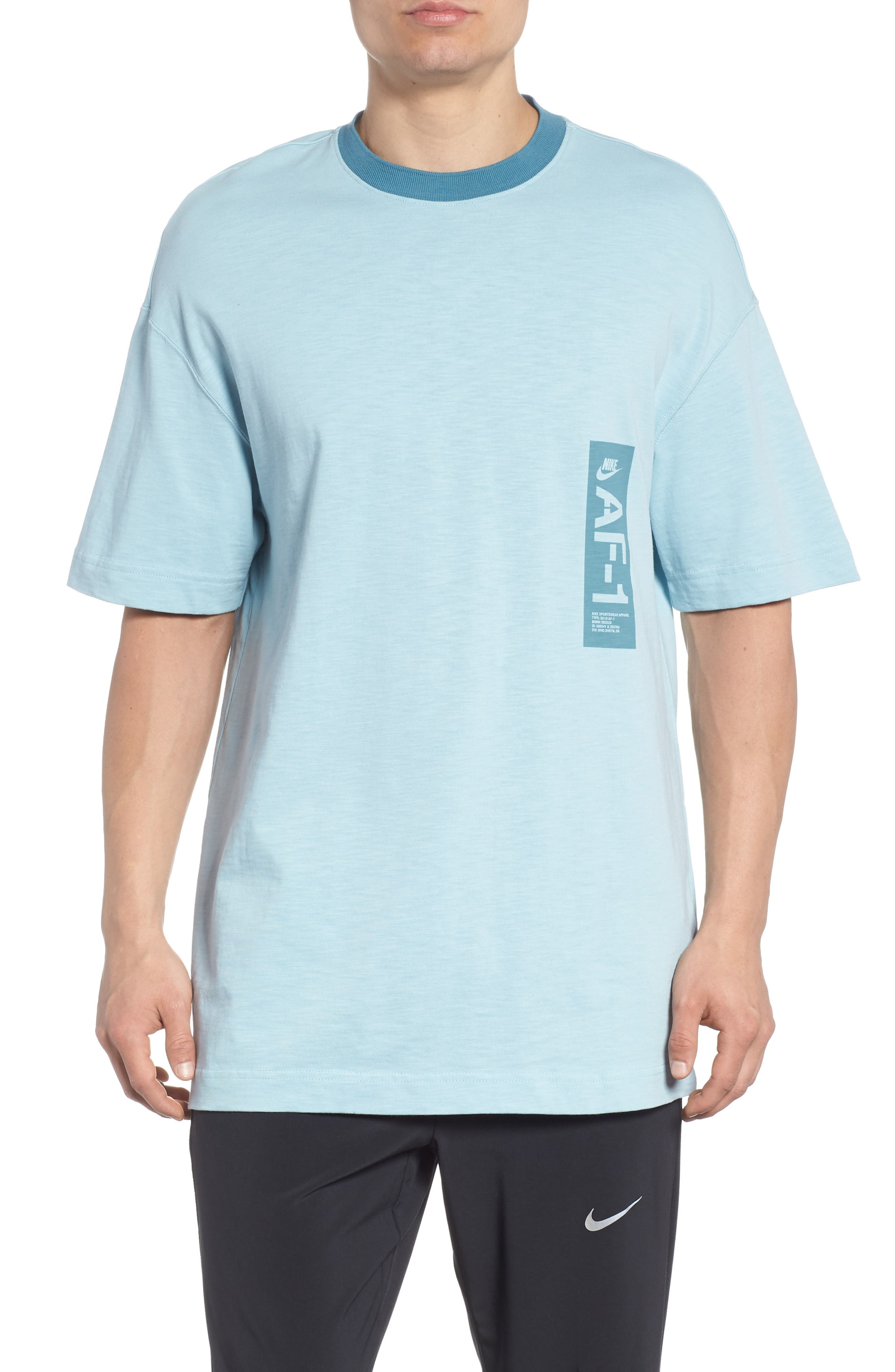 Sportswear AF1 Graphic T-Shirt,                             Main thumbnail 1, color,                             Ocean Bliss/ Noise Aqua