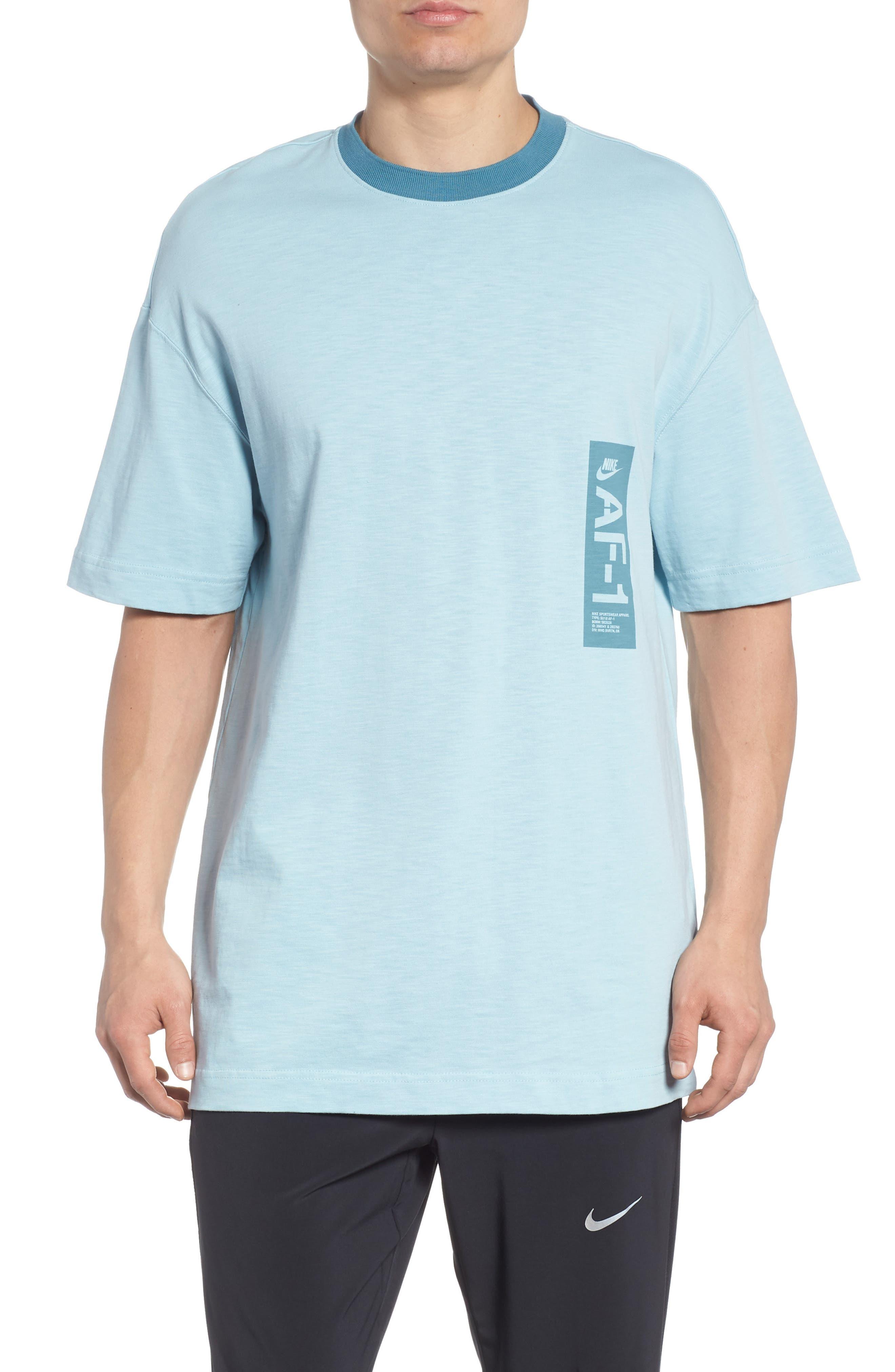 Sportswear AF1 Graphic T-Shirt,                         Main,                         color, Ocean Bliss/ Noise Aqua