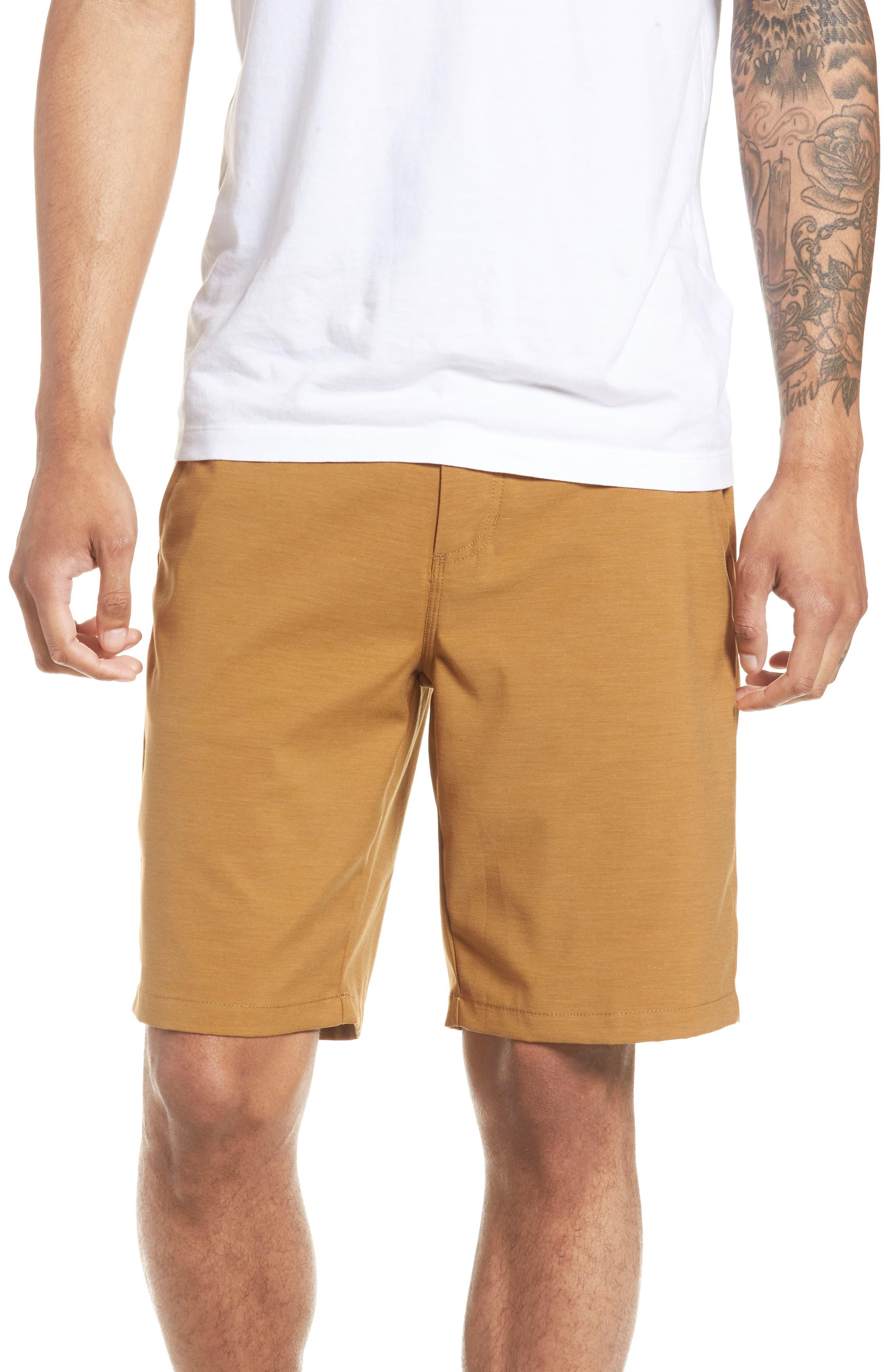 Authentic MicroPlush Decksider Shorts,                             Main thumbnail 1, color,                             Dirt