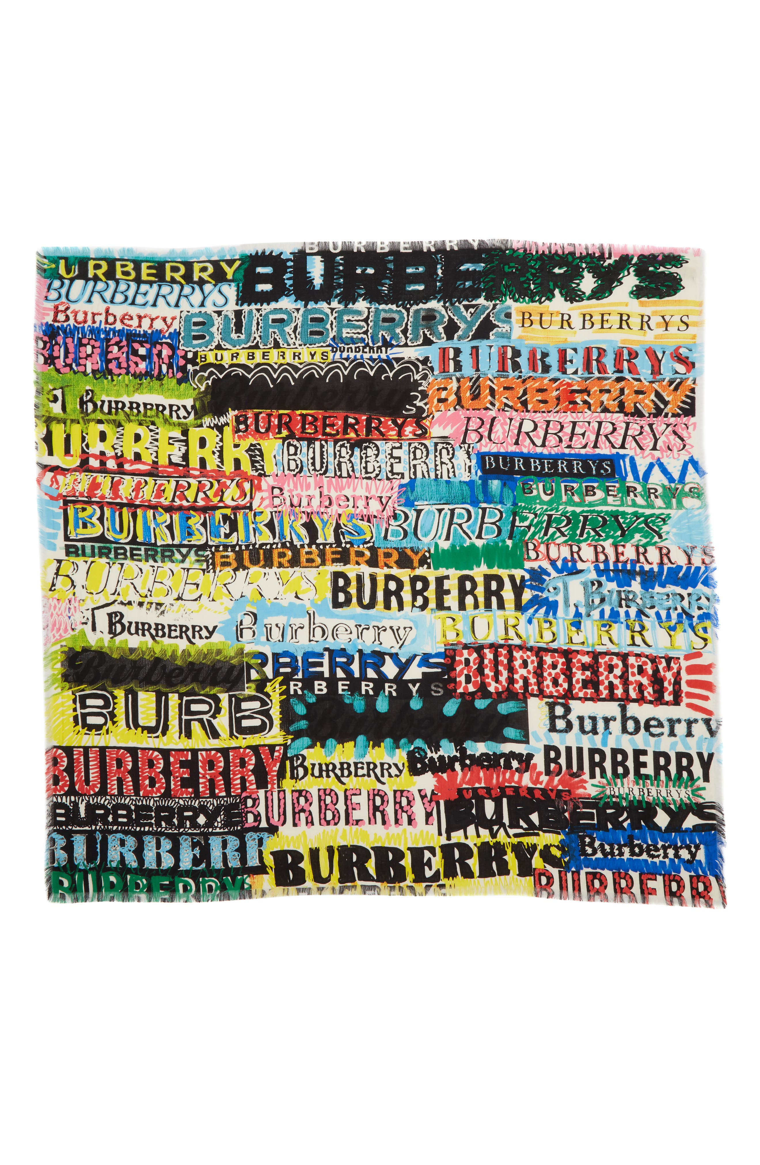Burberry Newsprint Scribble Large Scarf