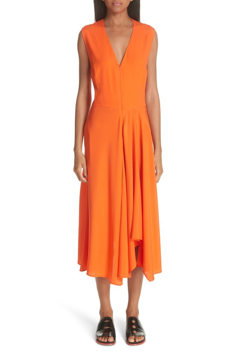 Wave Side Drape Dress