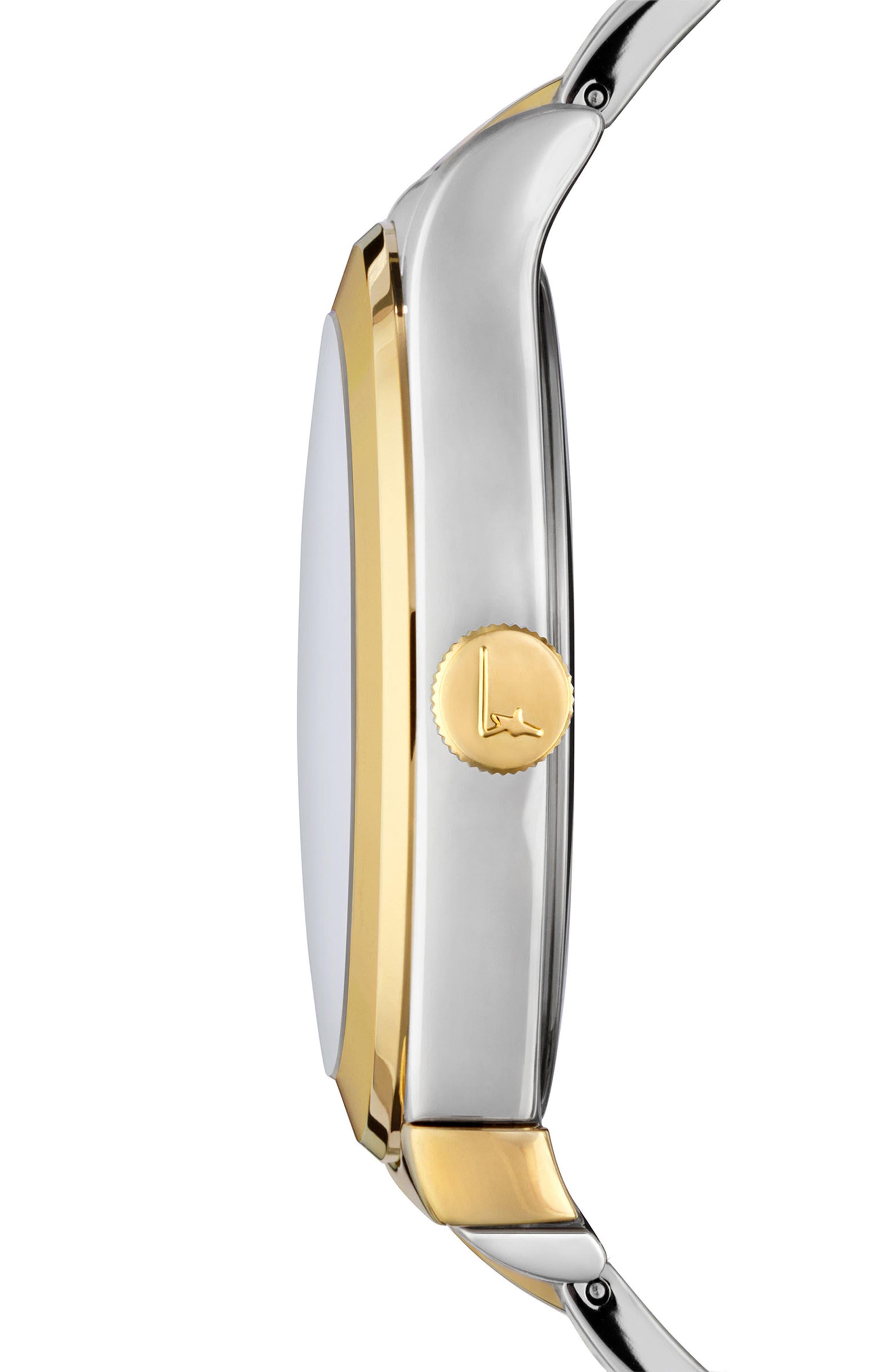 1898 Bracelet Watch, 40mm,                             Alternate thumbnail 3, color,                             Silver/ Grey/ Gold