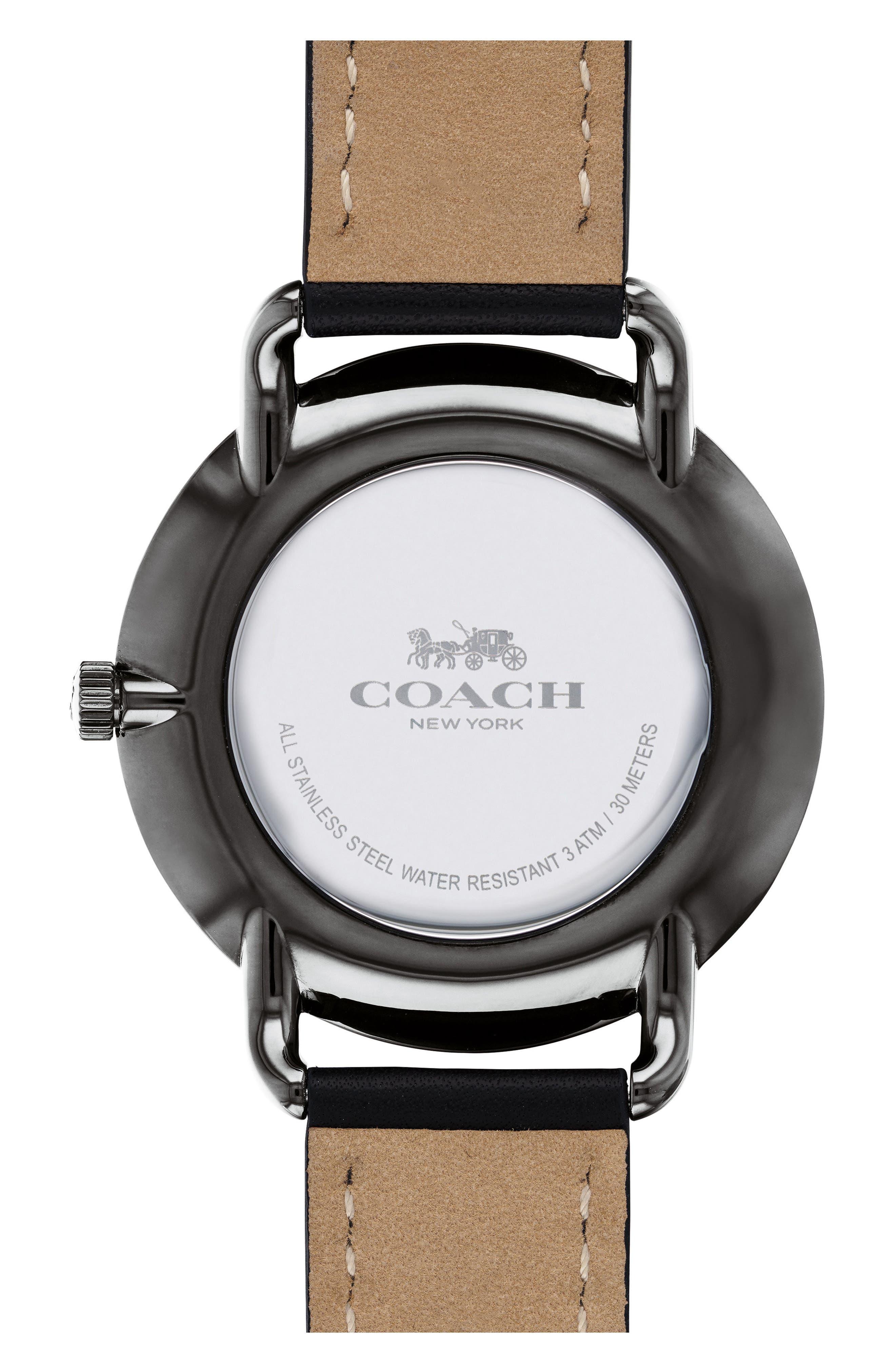 Delancey Leather Strap Watch, 40mm,                             Alternate thumbnail 2, color,                             Black