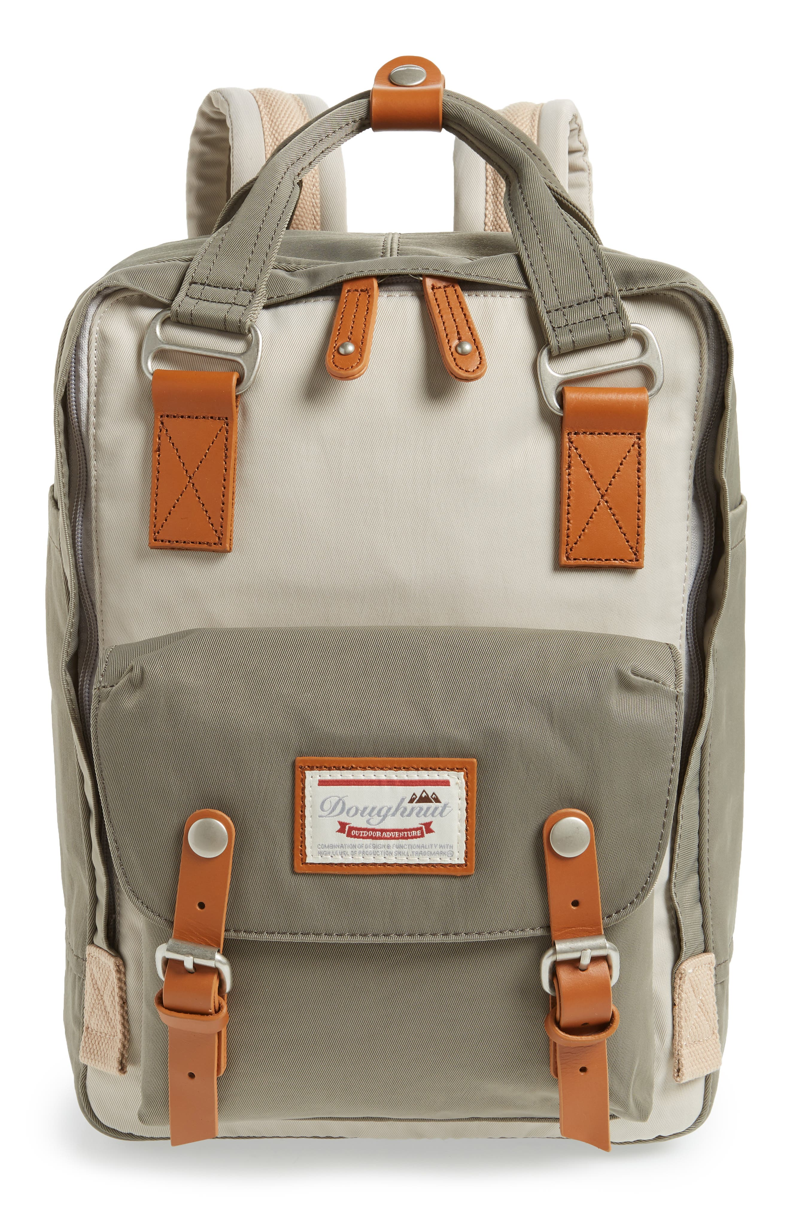 MACAROON COLORBLOCK BACKPACK - IVORY