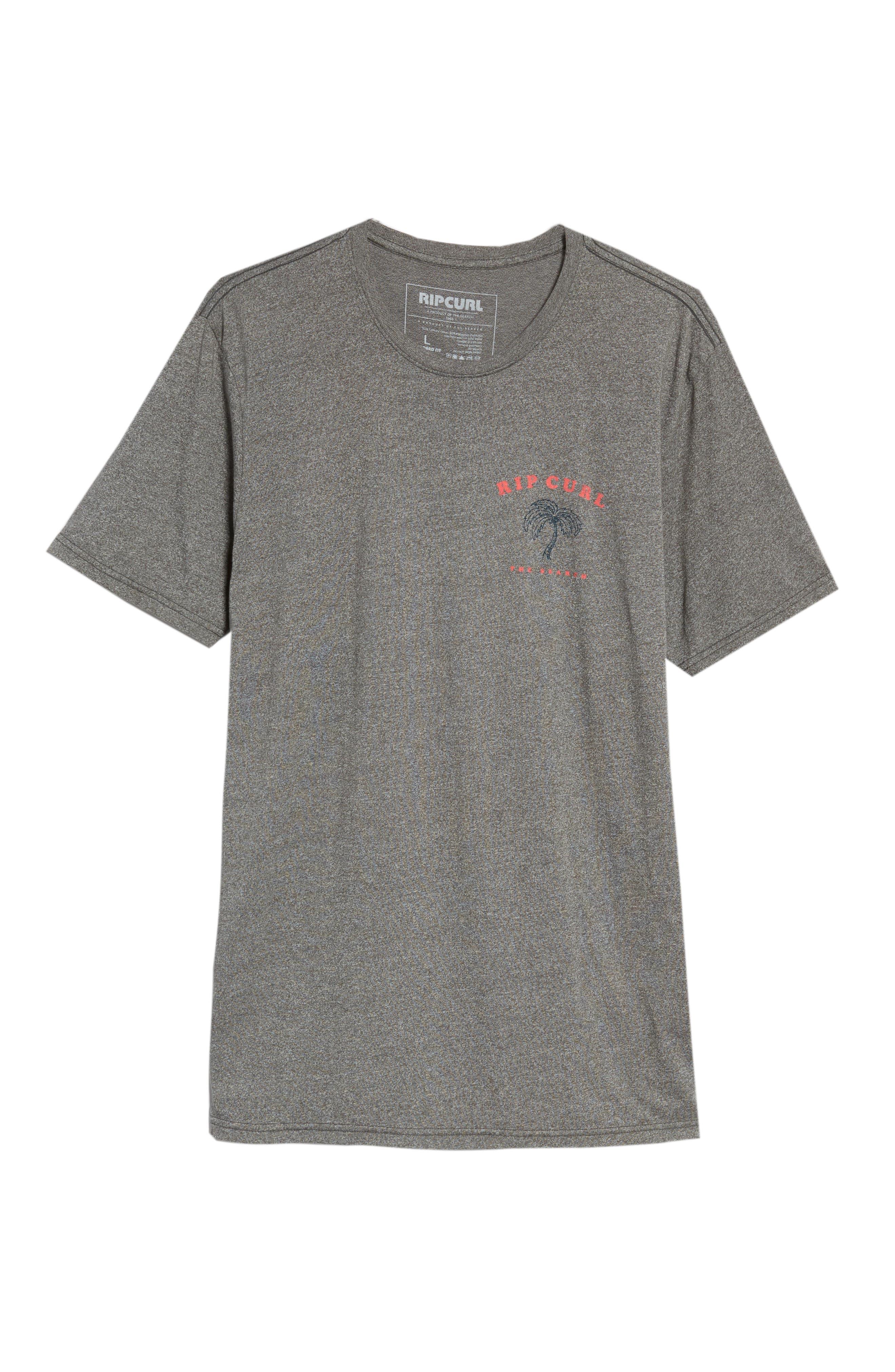 Beach Break Mock Twist T-Shirt,                             Alternate thumbnail 6, color,                             Platinum Heather