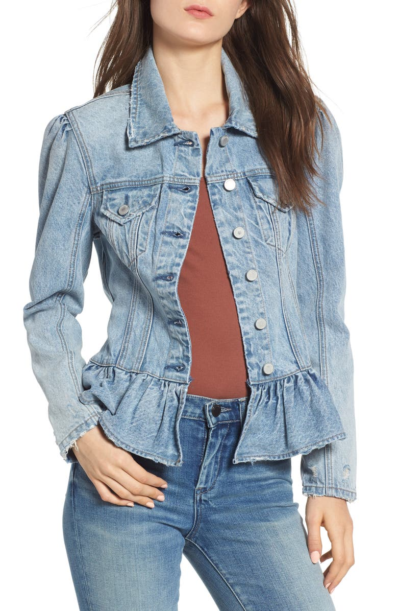 Situationship Denim Peplum Jacket