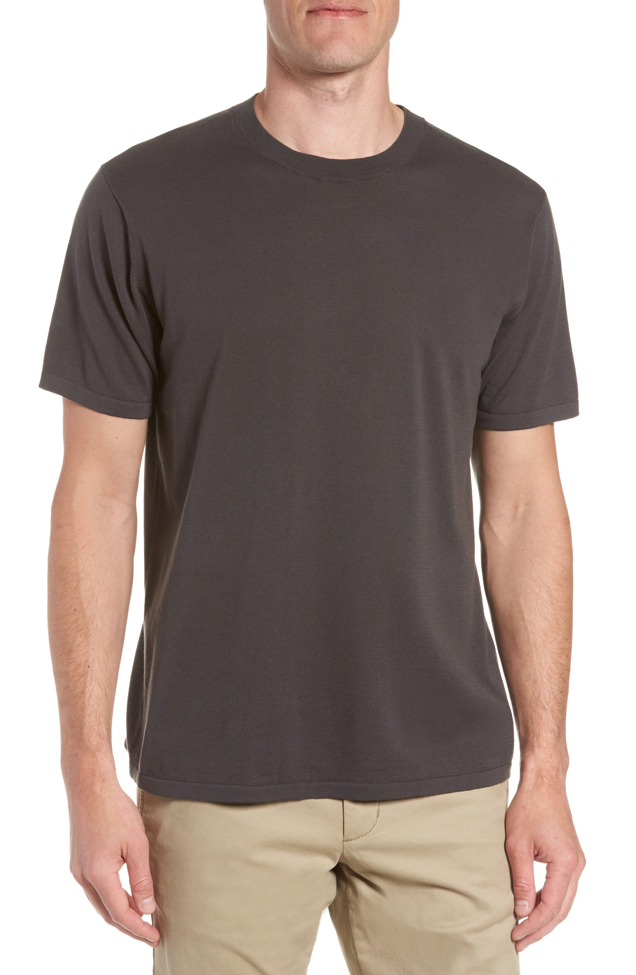 Slim Fit Pima Cotton Sweater T-Shirt,                         Main,                         color, Concrete Slab