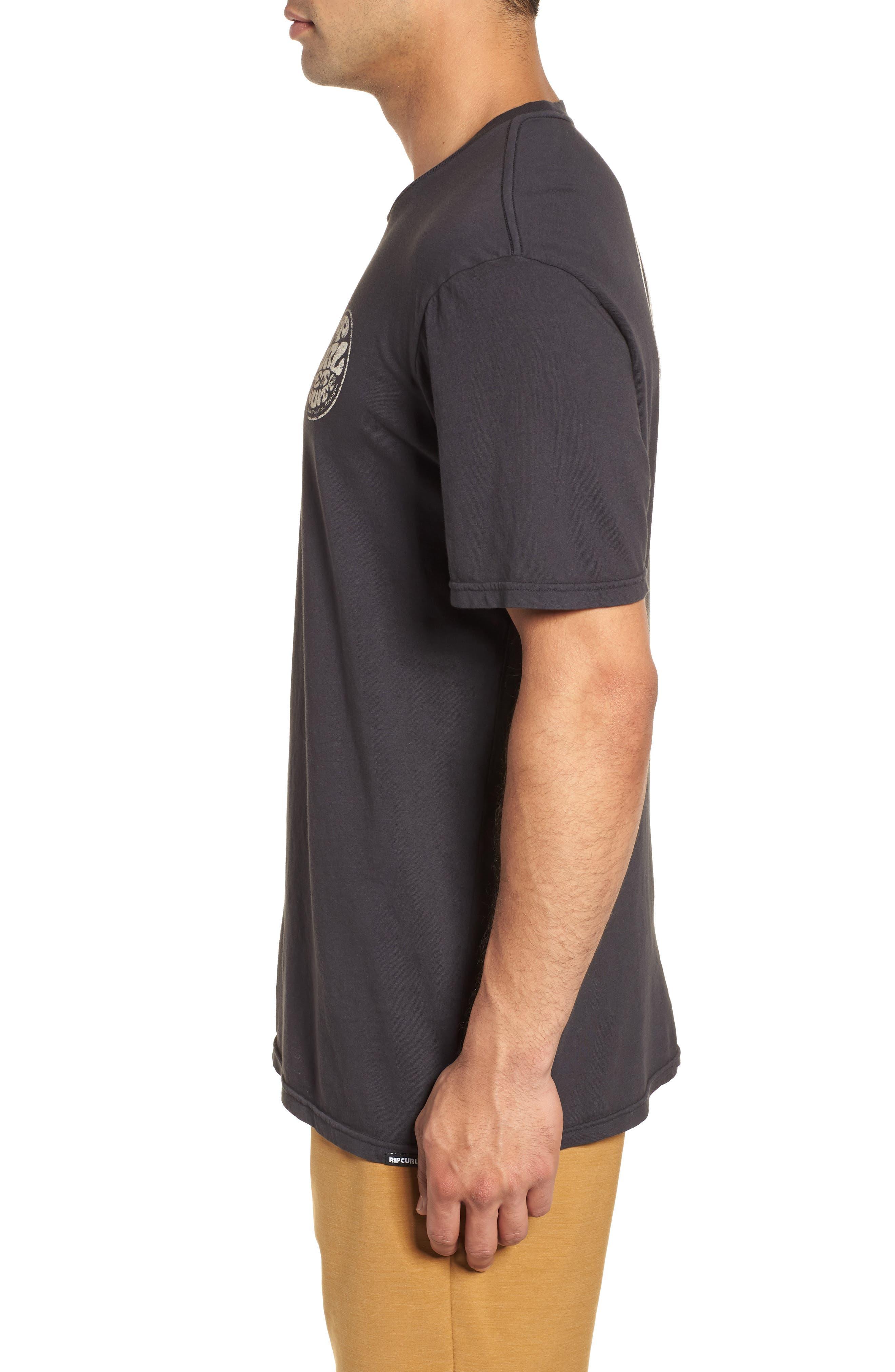 Vintage Wettie Heritage T-Shirt,                             Alternate thumbnail 3, color,                             Charcoal