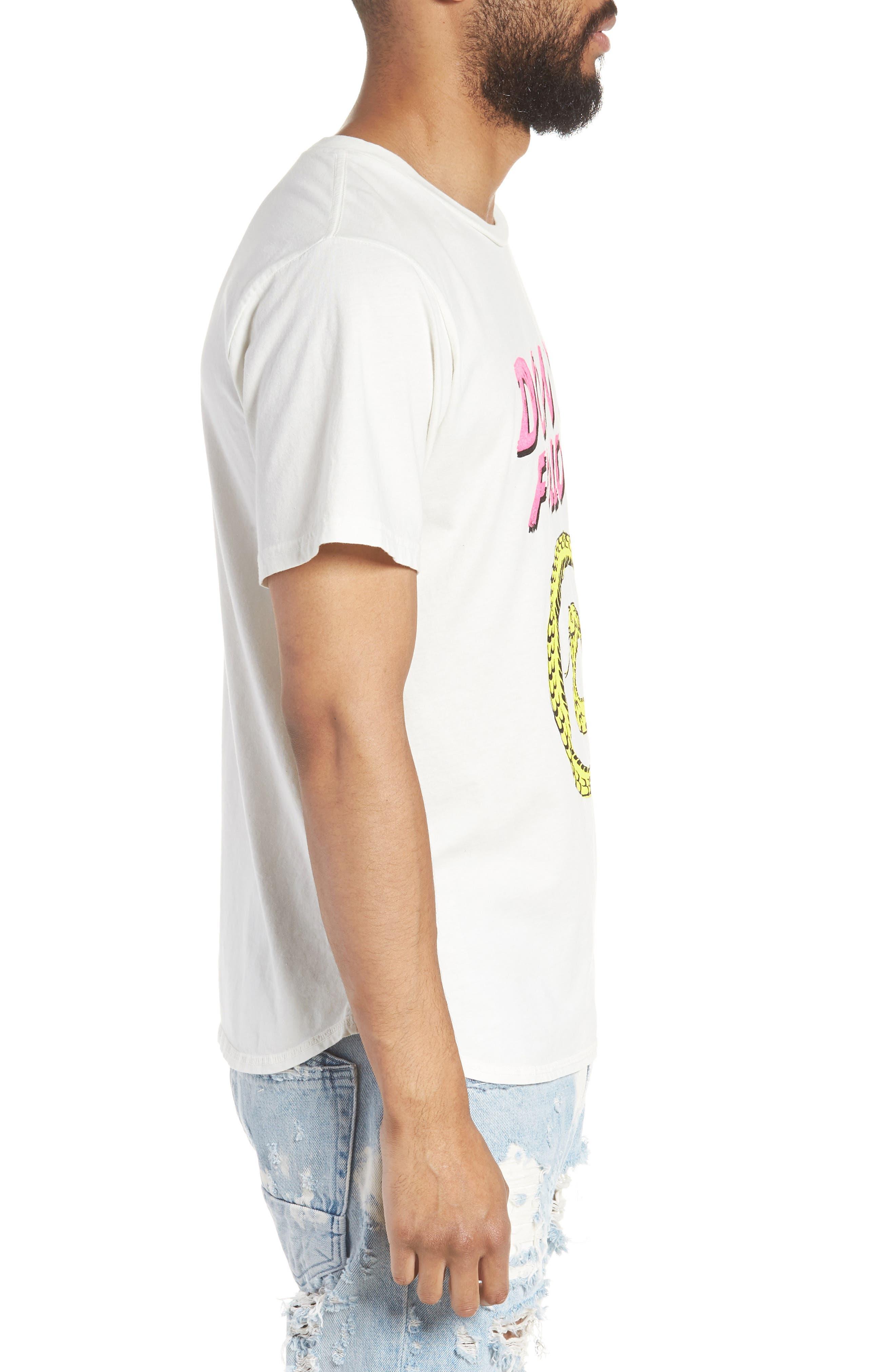 Don't Follow Crewneck T-shirt,                             Alternate thumbnail 3, color,                             Chalk White