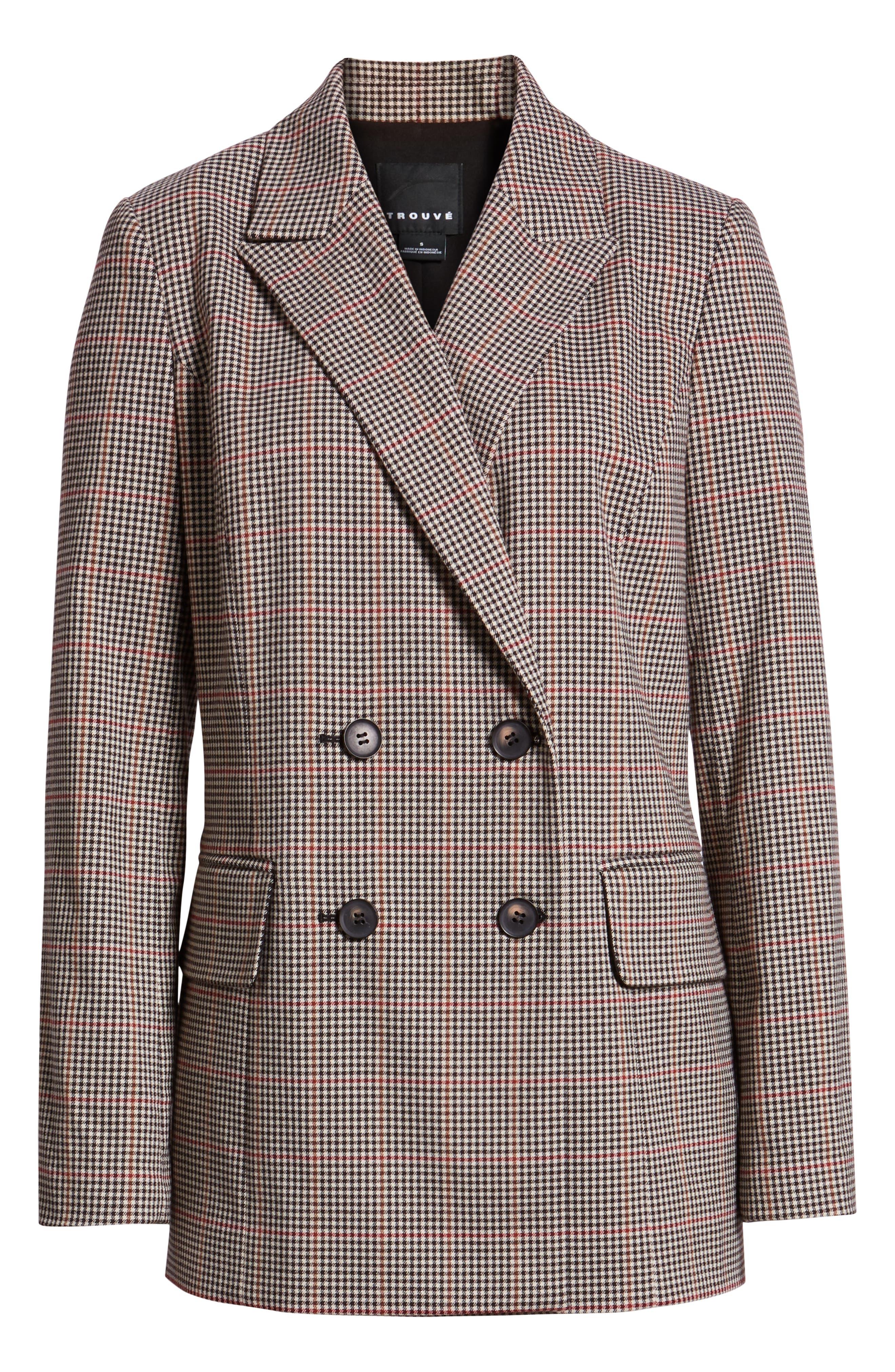 Menswear Blazer,                             Alternate thumbnail 6, color,                             London Check