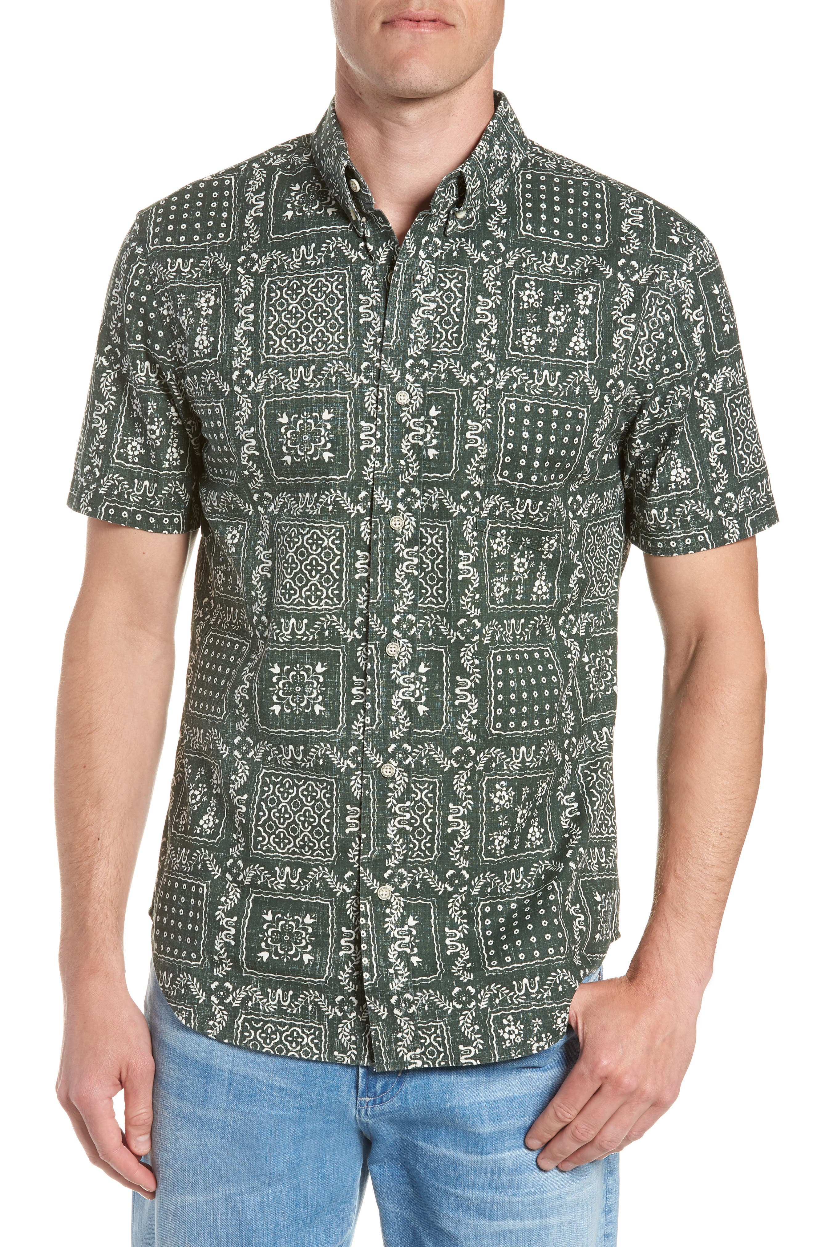 Alternate Image 1 Selected - Reyn Spooner Lahaina Sailor Tailored Fit Sport Shirt