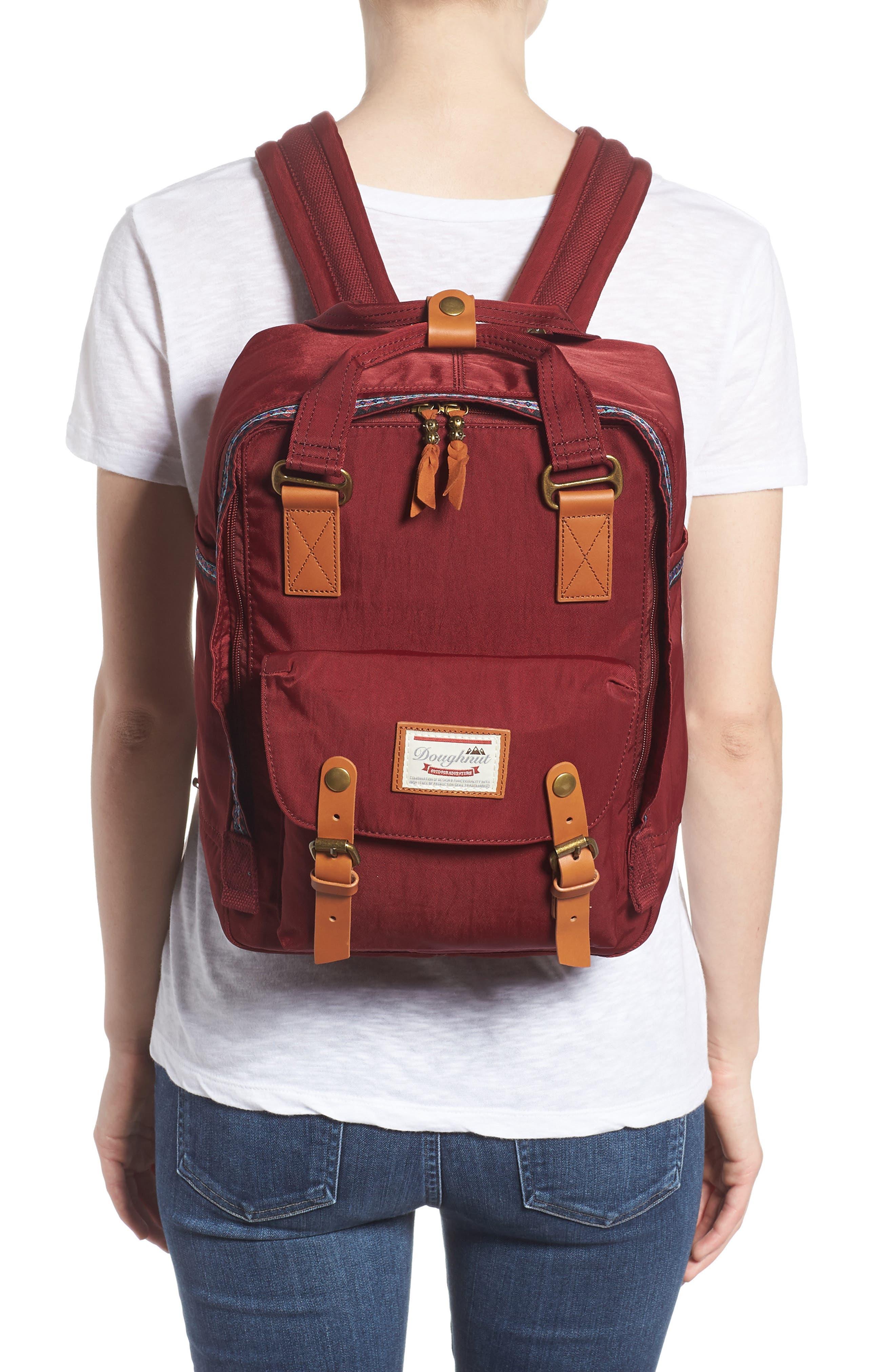 Macaroon Bo-He Water Resistant Backpack,                             Alternate thumbnail 2, color,                             Wine