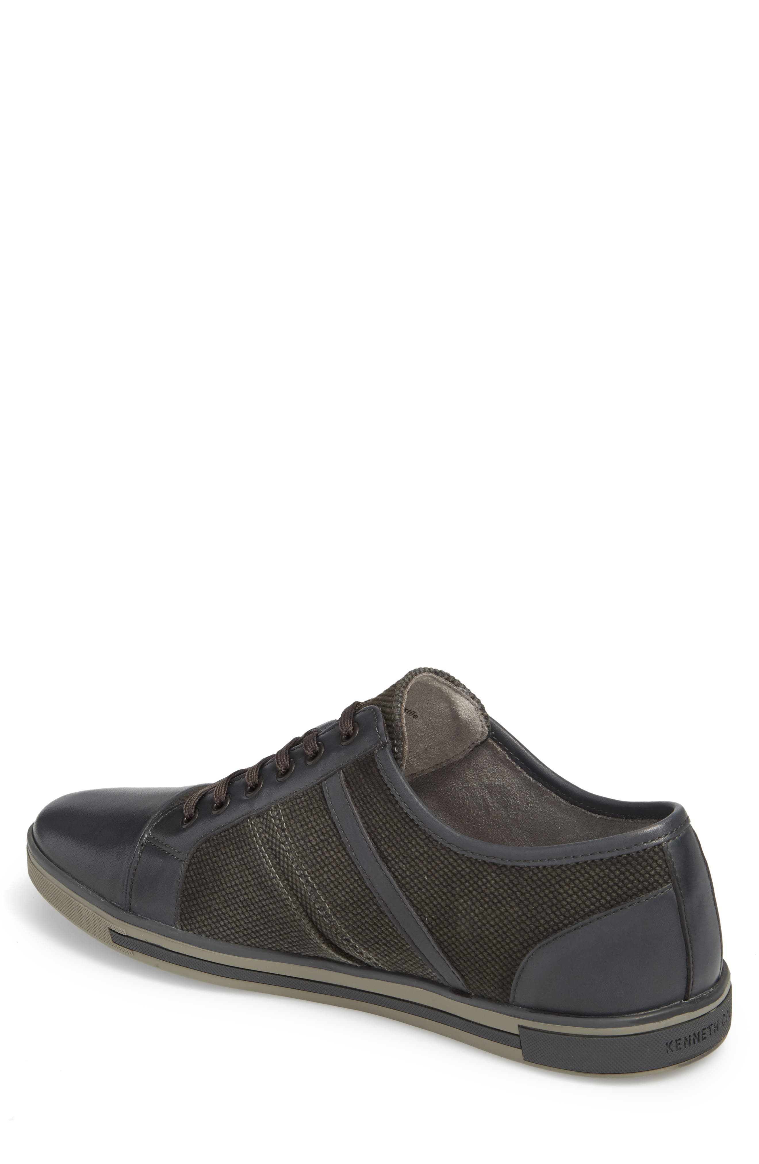 Initial Step Sneaker,                             Alternate thumbnail 2, color,                             Grey Leather/ Textile