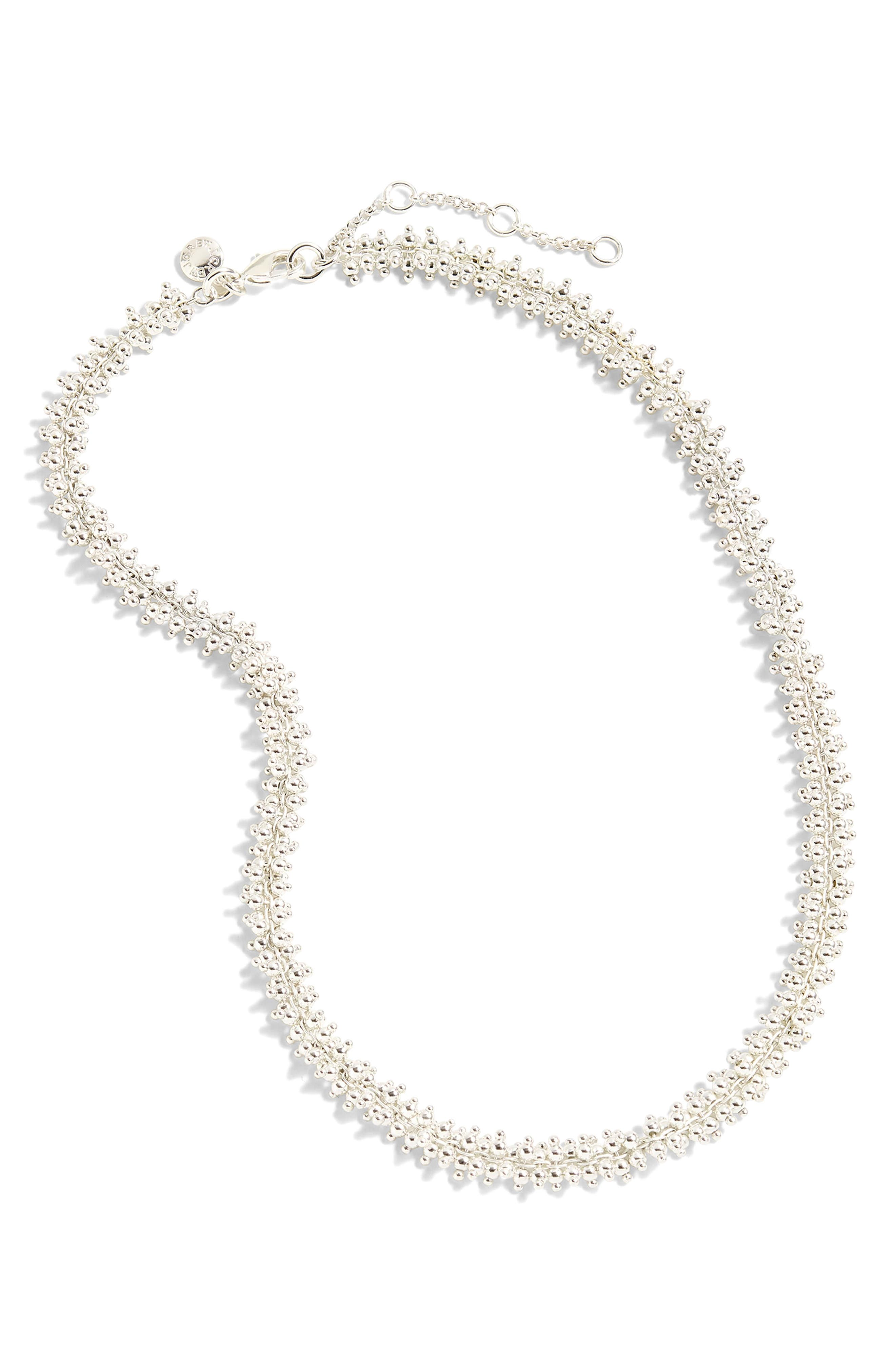 Beaded Necklace,                         Main,                         color, Morning Fog