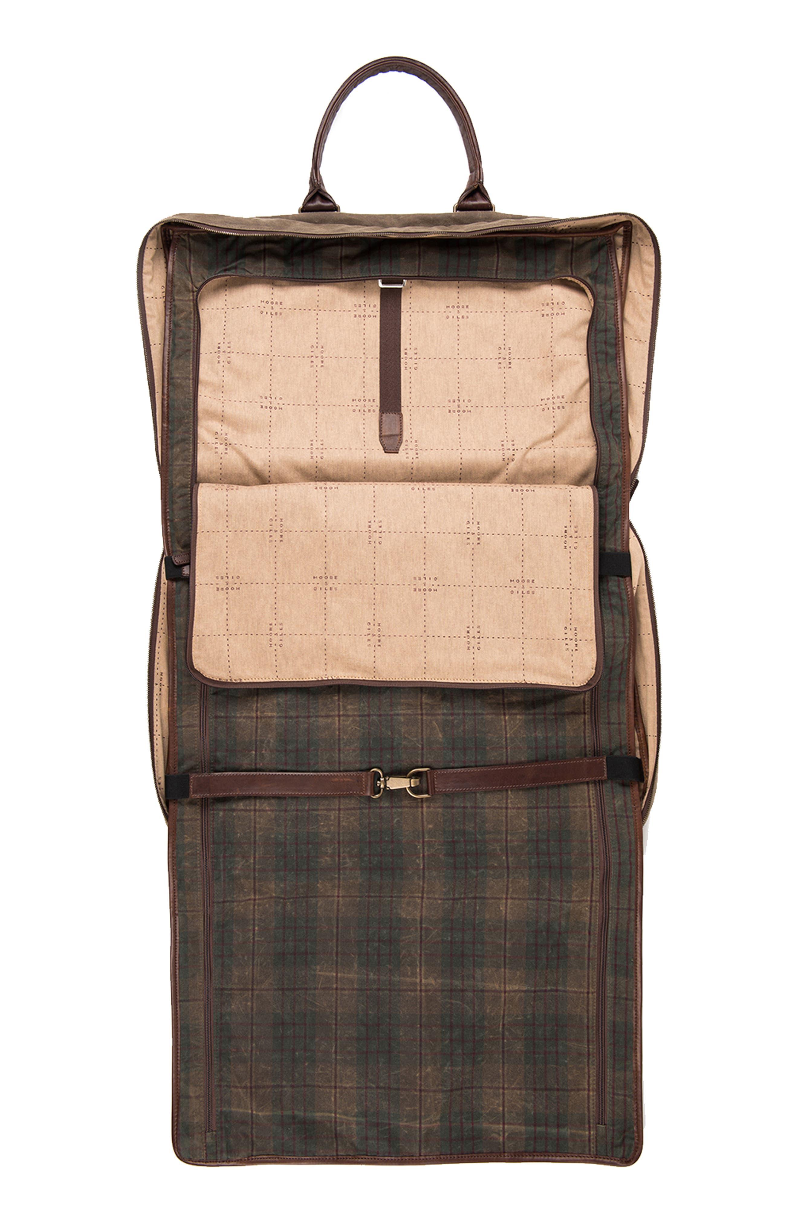 Tinsley Trifold Garment Bag,                             Alternate thumbnail 5, color,                             Baldwin Oak