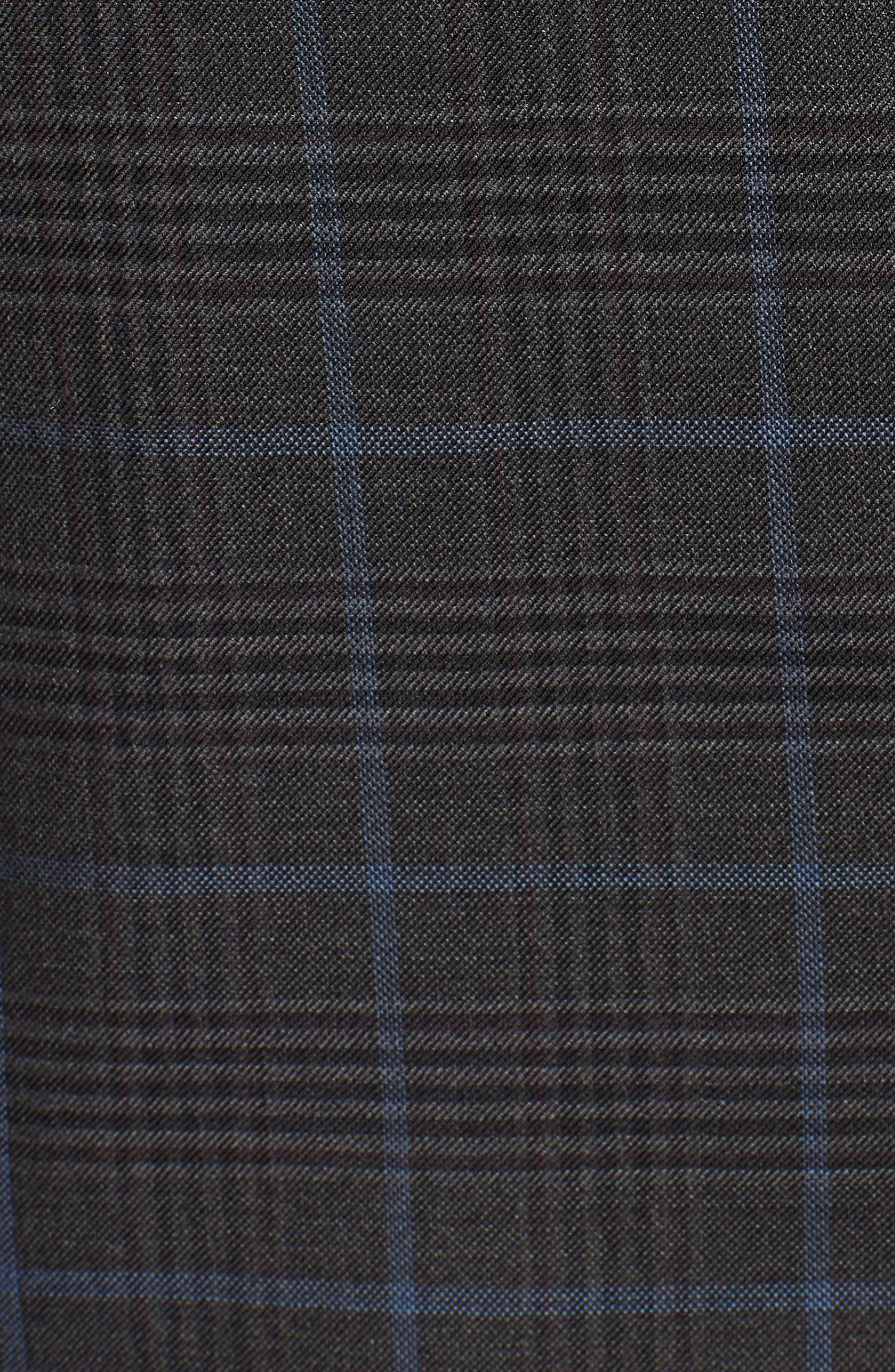 Hyperlight Classic Fit Plaid Wool Sport Coat,                             Alternate thumbnail 3, color,                             Grey