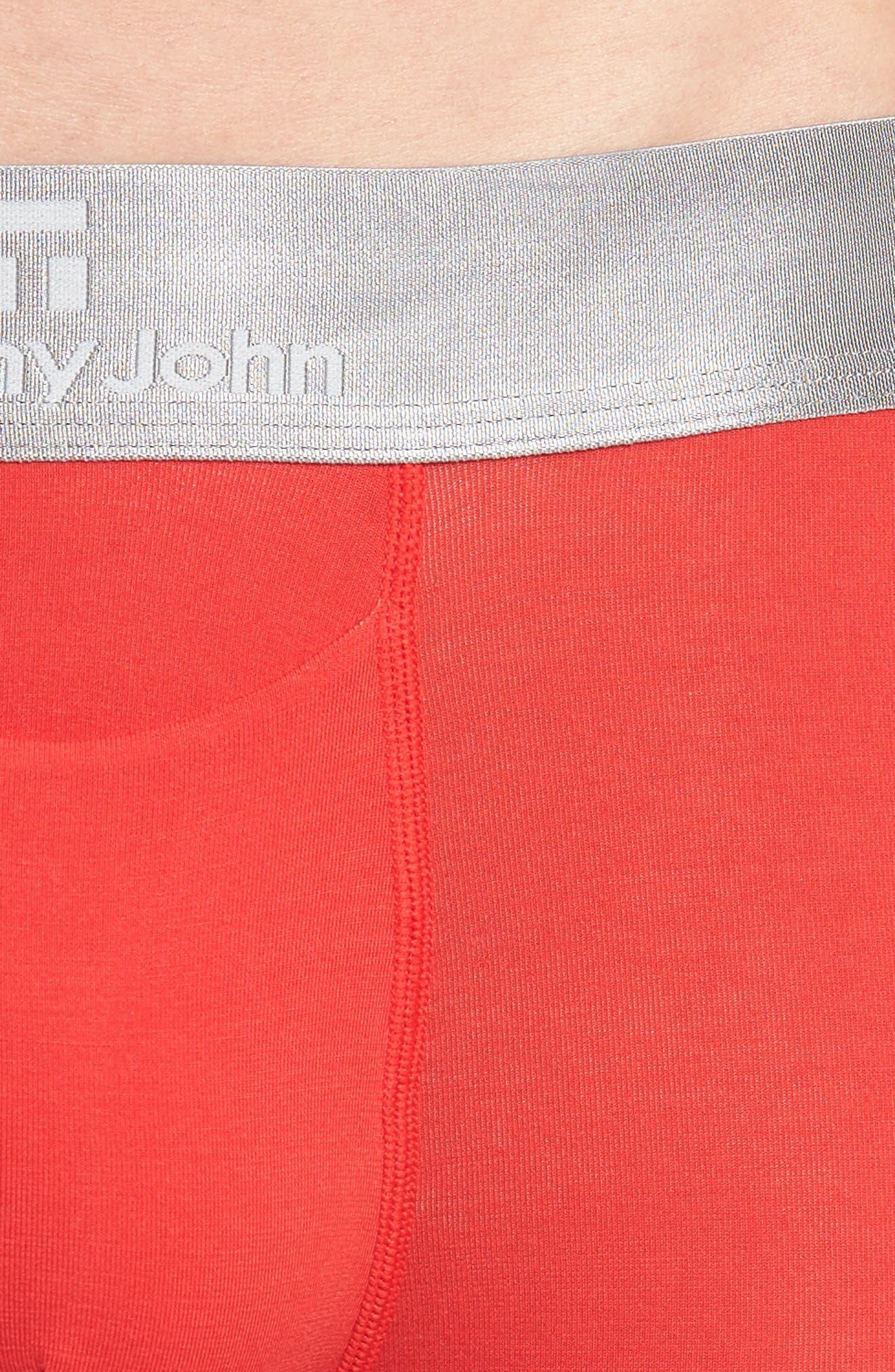 Second Skin Trunks,                             Alternate thumbnail 4, color,                             True Red/ Dress Blue
