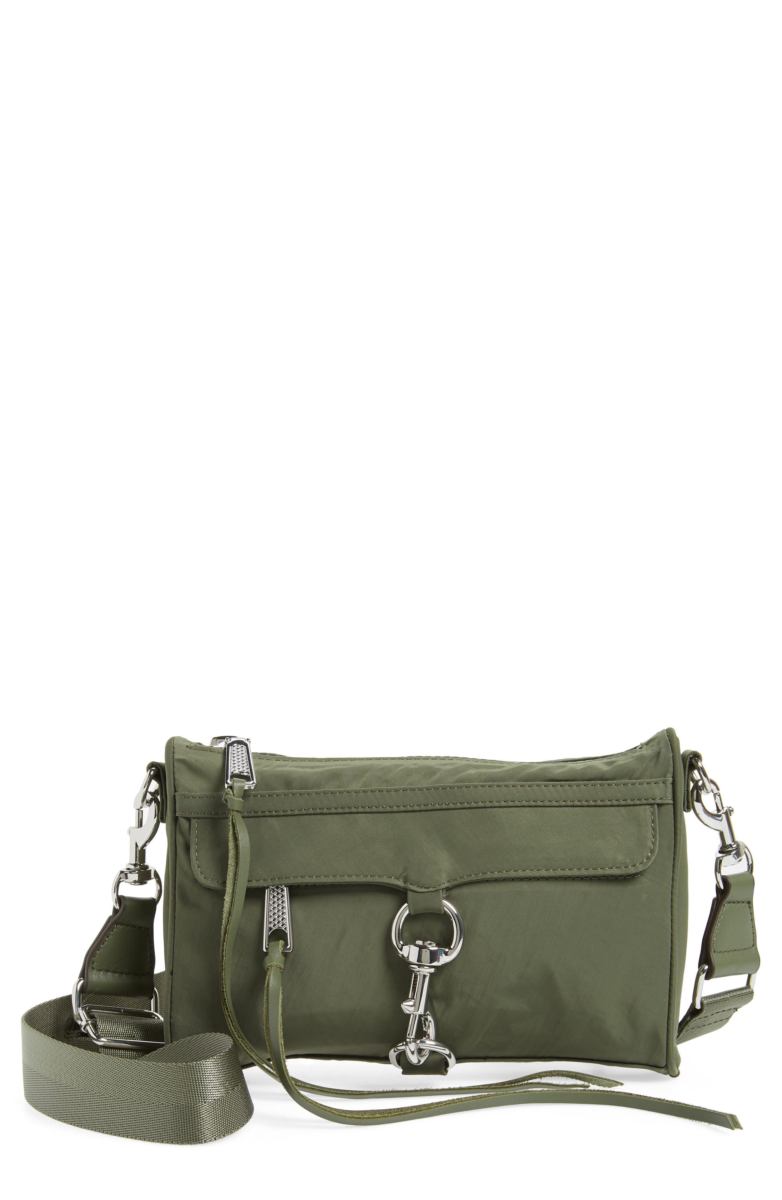 Mini Mac Convertible Crossbody Bag,                             Main thumbnail 1, color,                             Olive